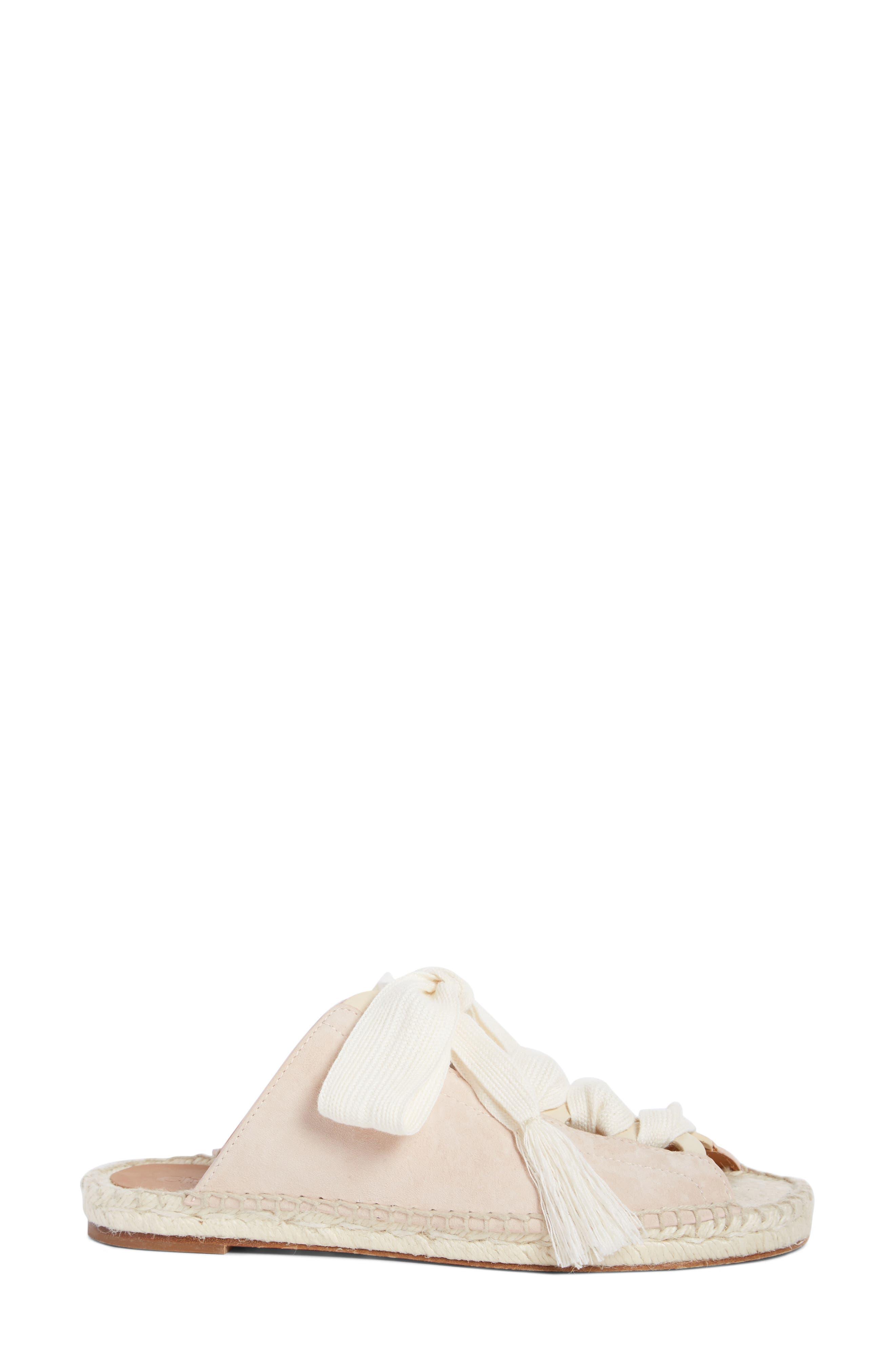 Harper Lace-Up Espadrille Slide Sandal,                             Alternate thumbnail 4, color,                             Maple Pink