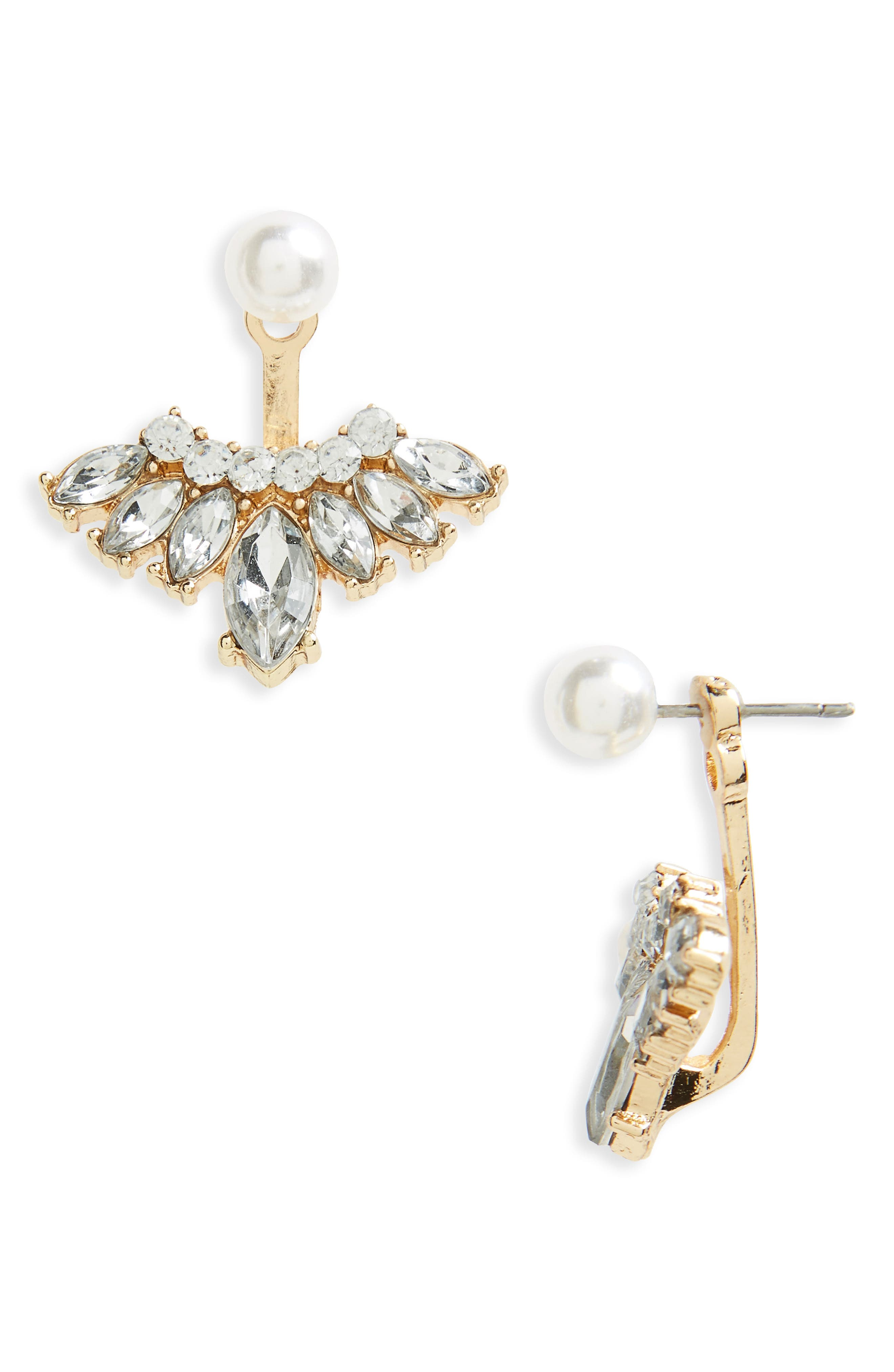 BP. Imitation Pearl & Crystal Ear Jackets