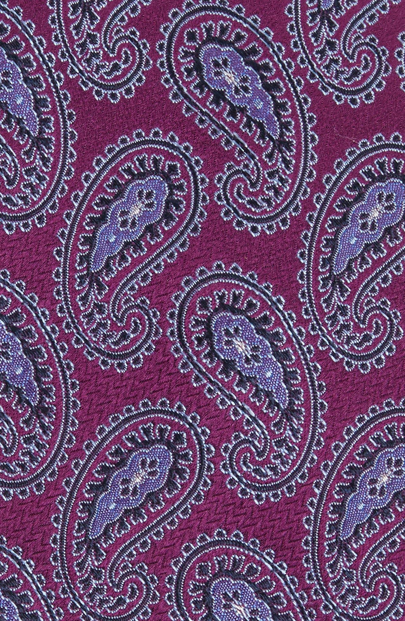 Provincial Pines Paisley Silk Tie,                             Alternate thumbnail 2, color,                             Blue Violet