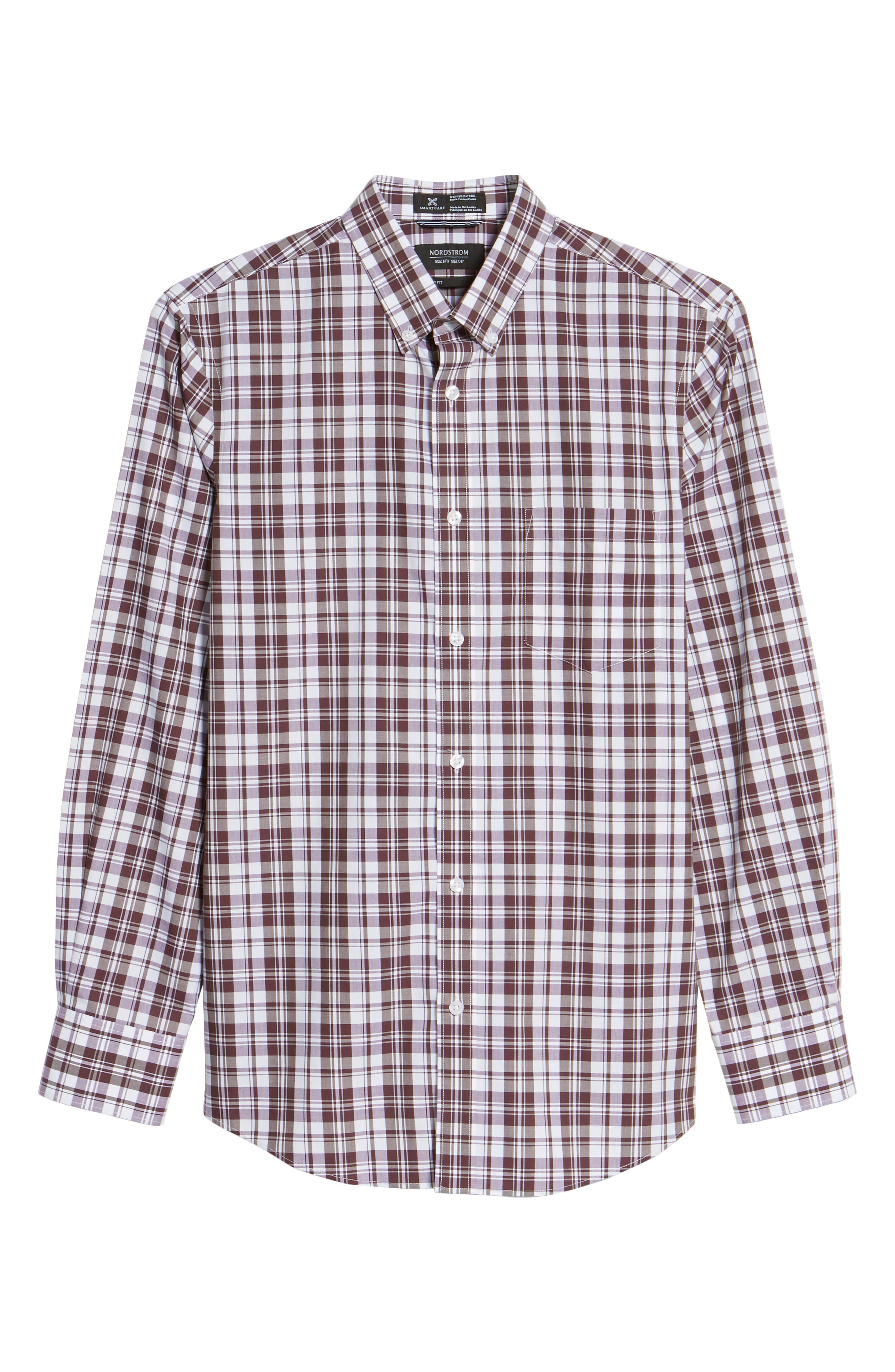 Alternate Image 6  - Nordstrom Men's Shop Smartcare™ Regular Fit Plaid Sport Shirt