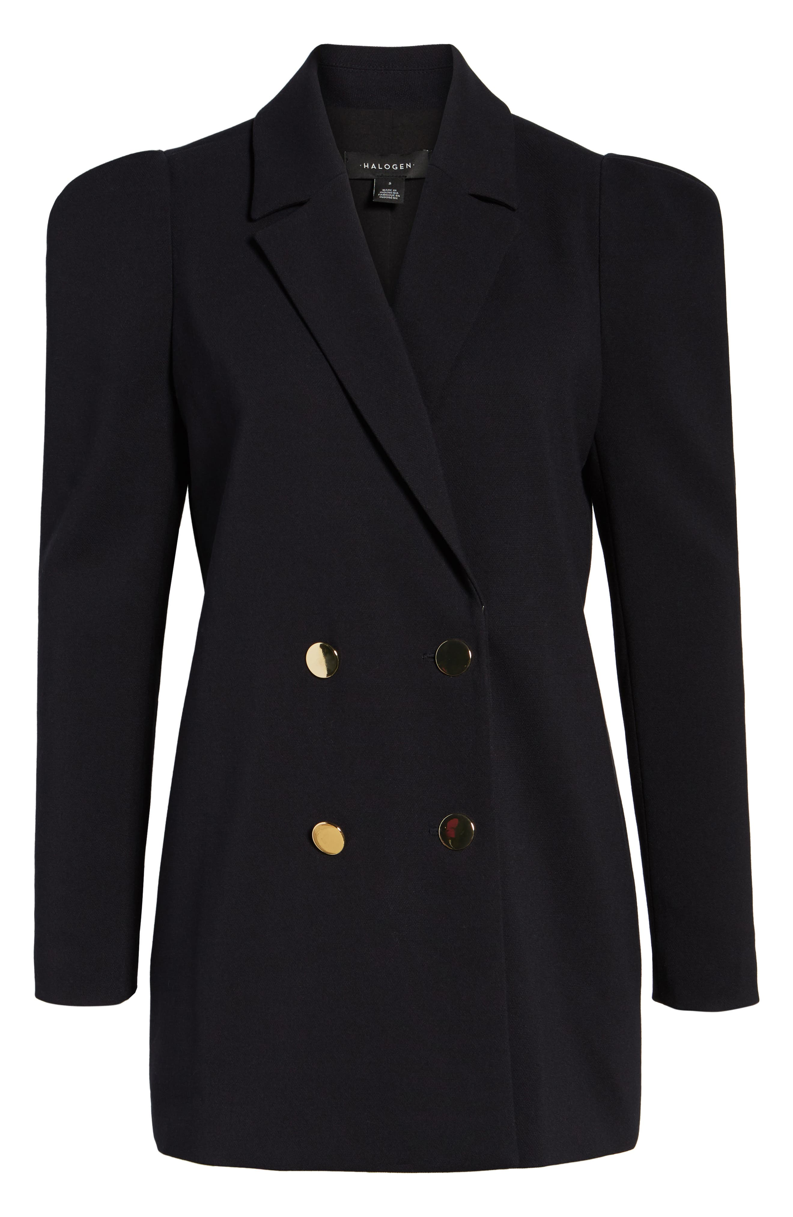 Double Breasted Blazer,                             Alternate thumbnail 6, color,                             Navy