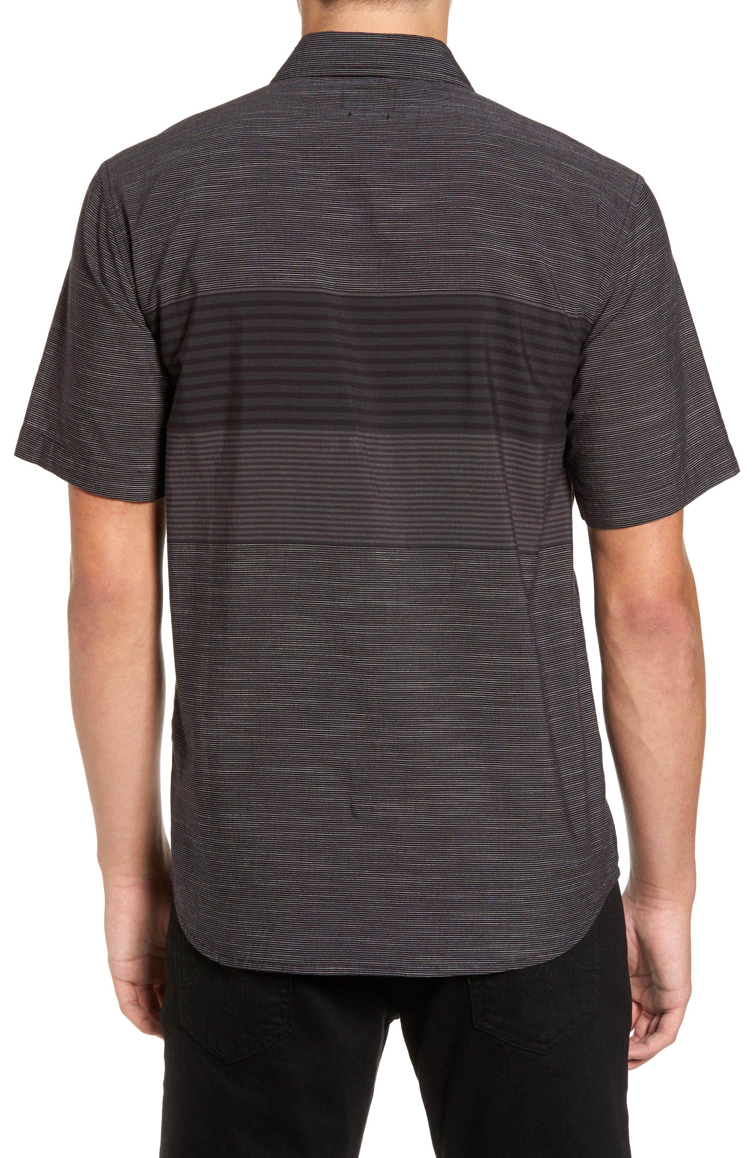 Altair Stripe Sport Shirt,                             Alternate thumbnail 2, color,                             Black