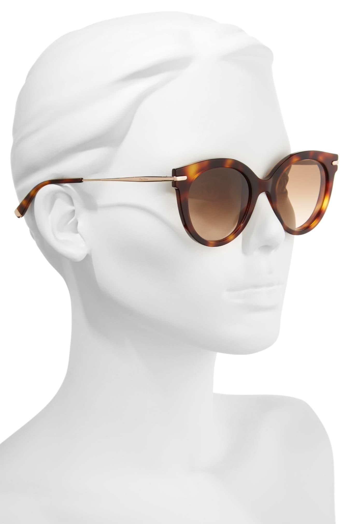 Needle VI 50mm Gradient Round Sunglasses,                             Alternate thumbnail 2, color,                             Havana Gold