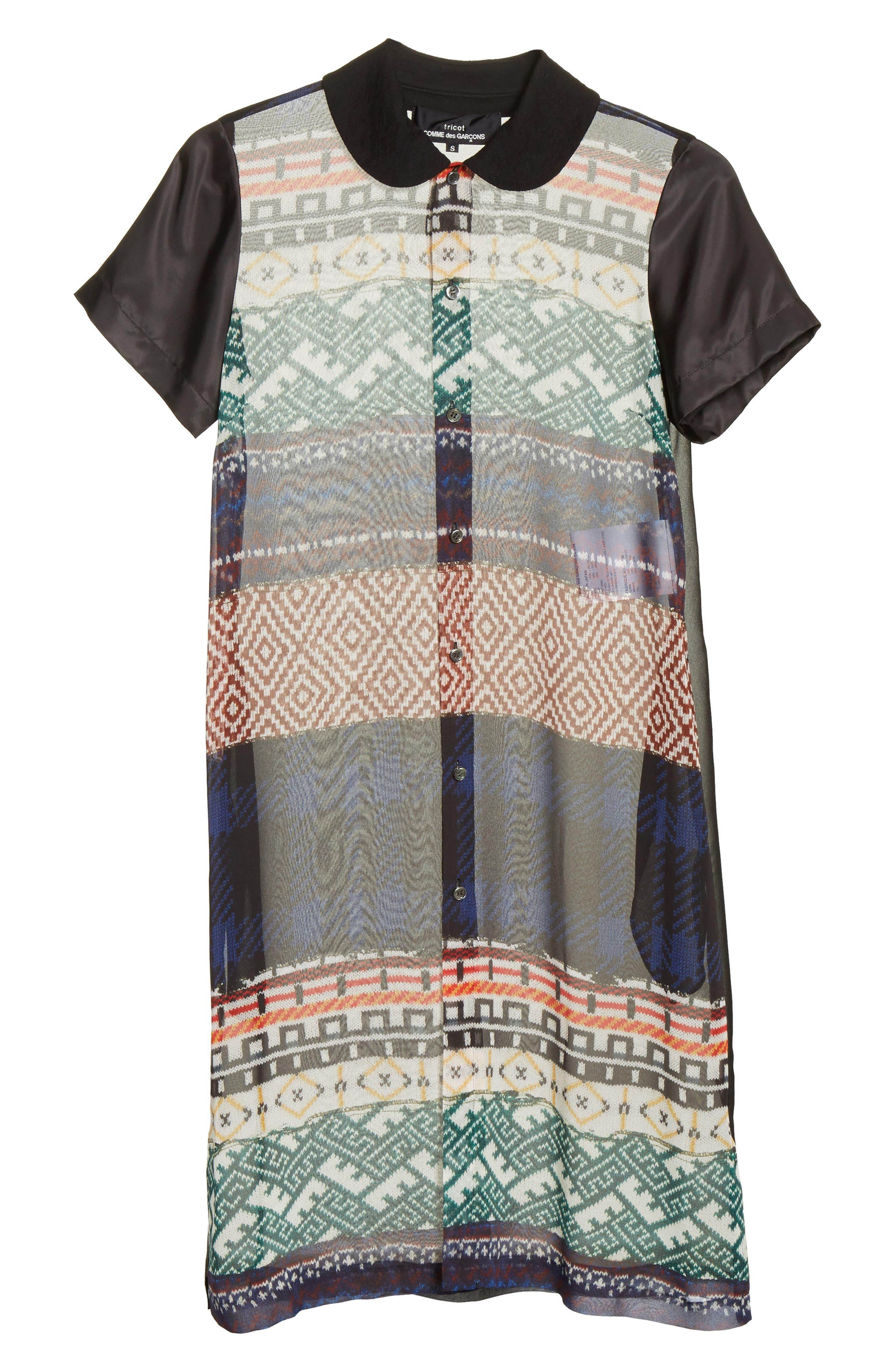 Alternate Image 6  - Tricot Comme des Garçons Mixed Print Short Sleeve Dress