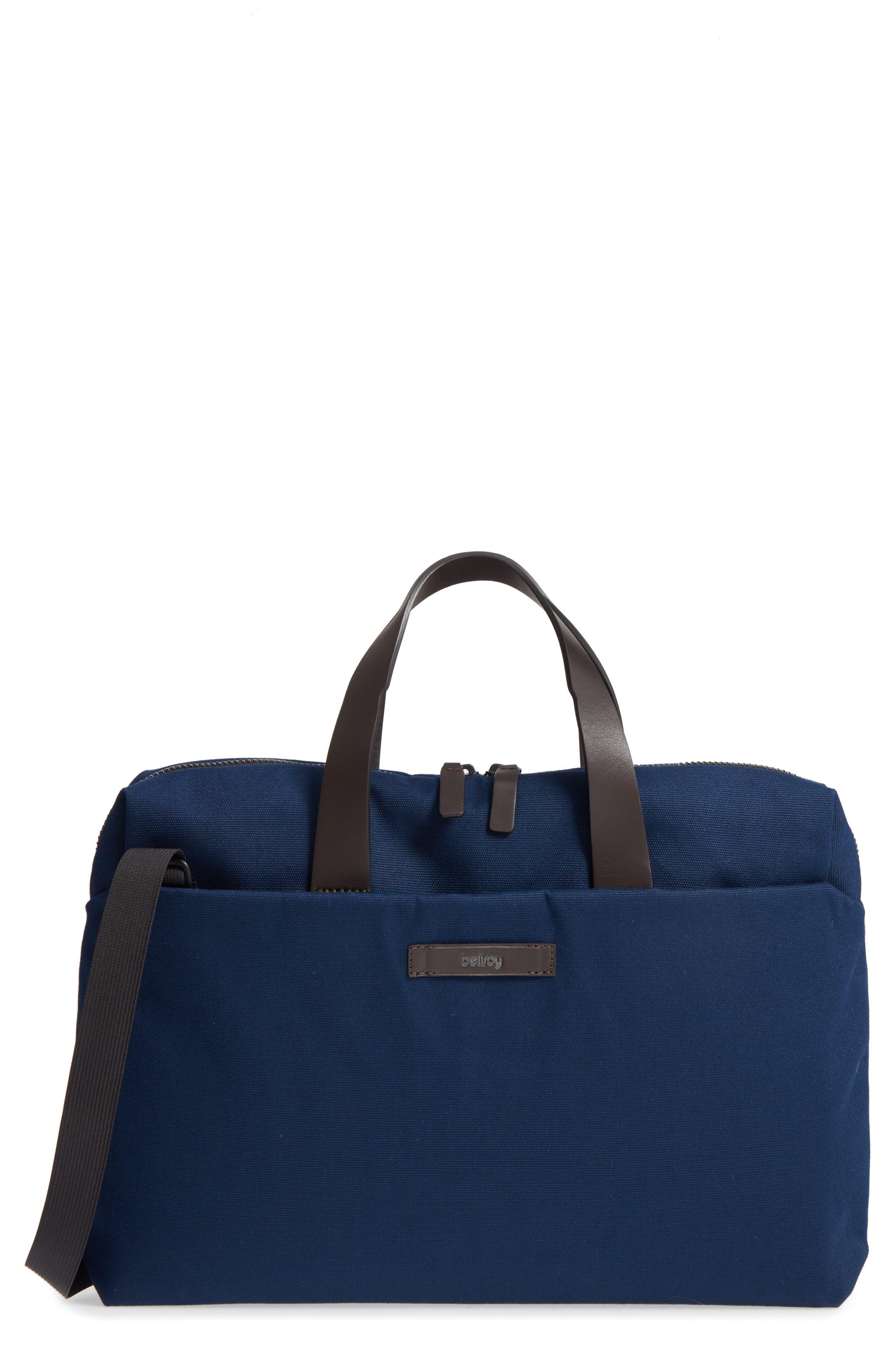 Slim Briefcase,                         Main,                         color, Navy