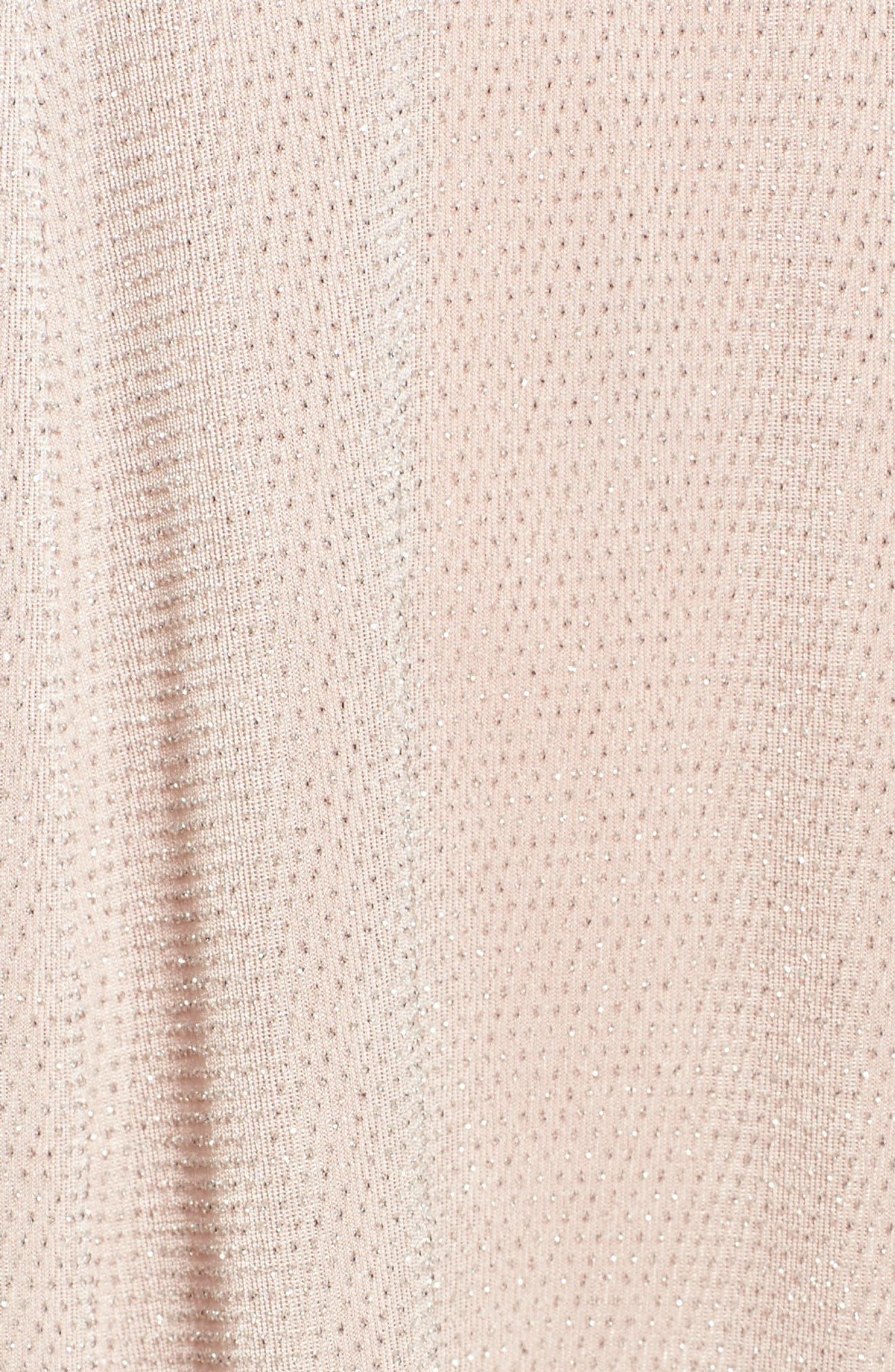 Daphne Ruffle Minidress,                             Alternate thumbnail 5, color,                             Dancing Queen Shine Blush