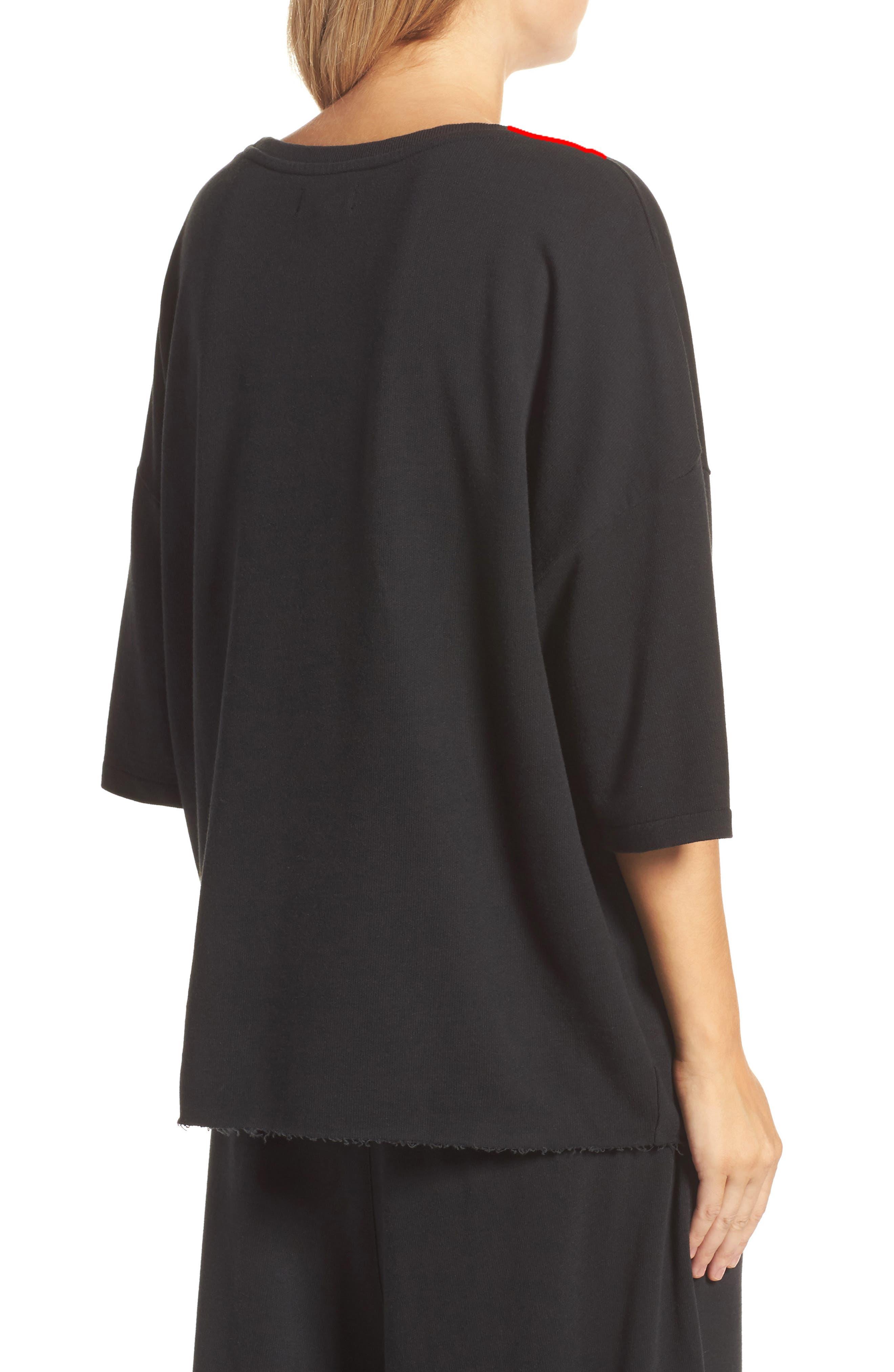 Soph Lounge Sweater,                             Alternate thumbnail 2, color,                             Plain Black Marle