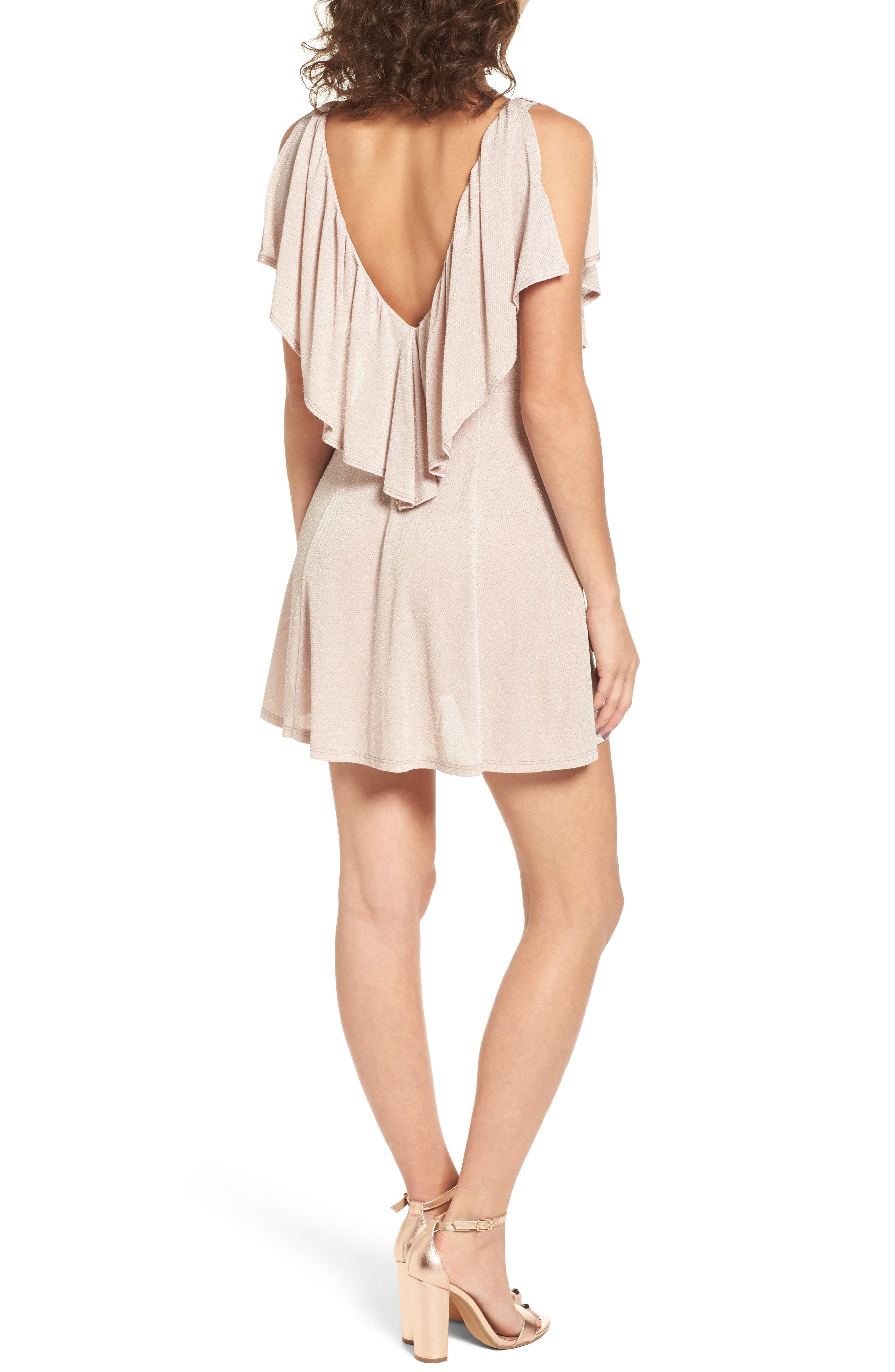 Daphne Ruffle Minidress,                             Alternate thumbnail 2, color,                             Dancing Queen Shine Blush