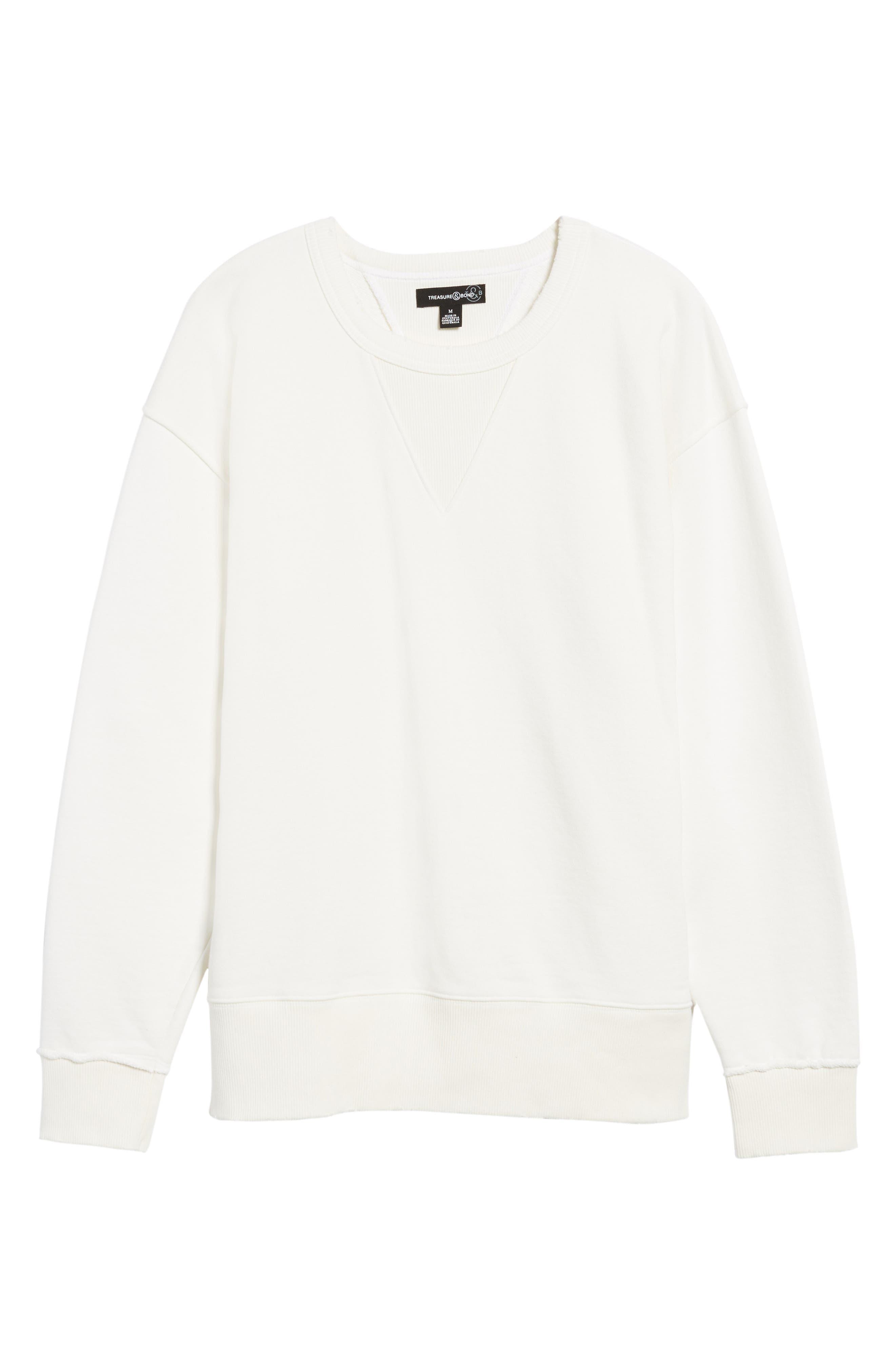 Alternate Image 6  - Treasure & Bond Distressed Sweatshirt