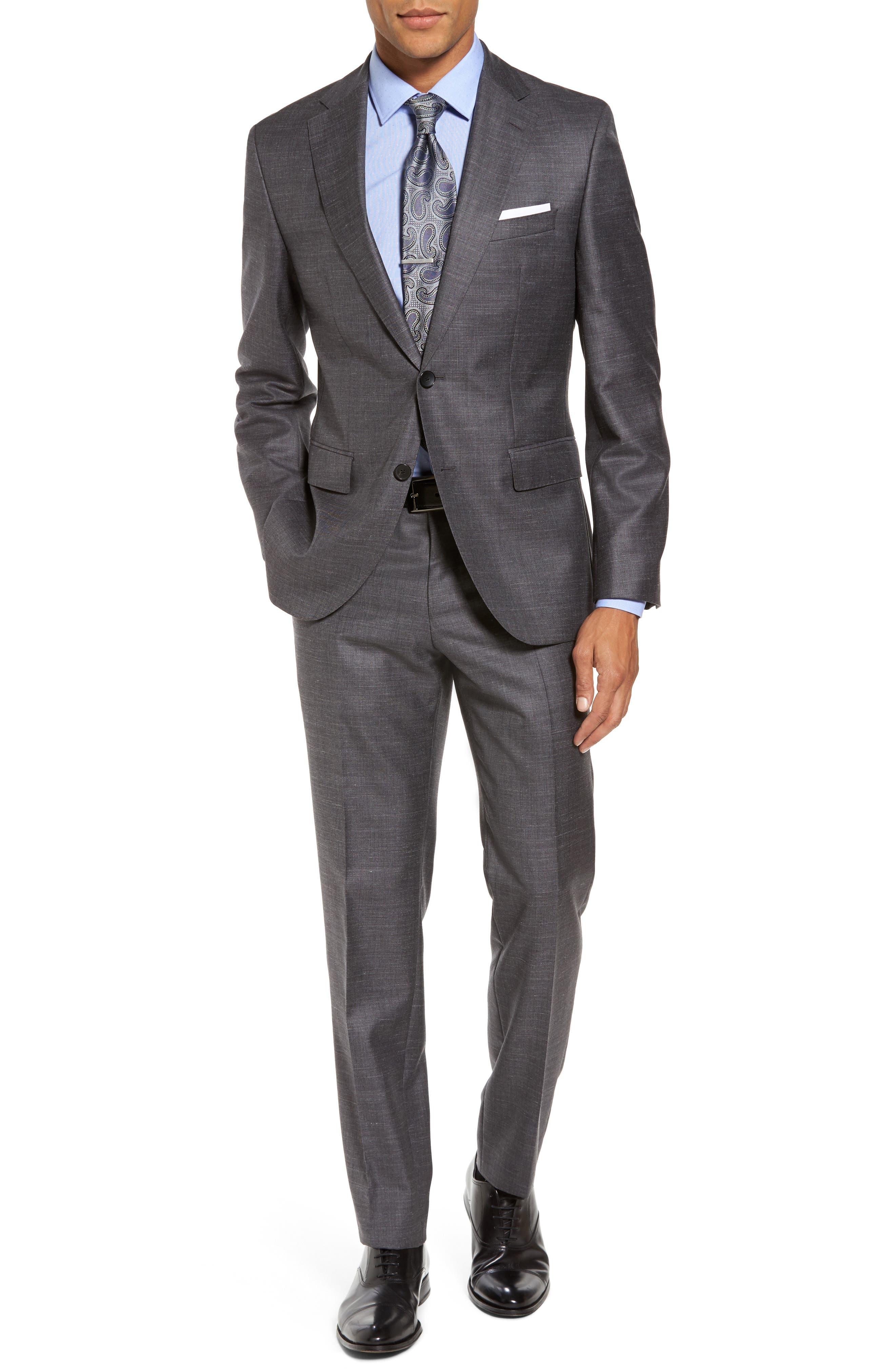 Main Image - BOSS Johnstons/Lenon Trim Fit Solid Wool Blend Suit