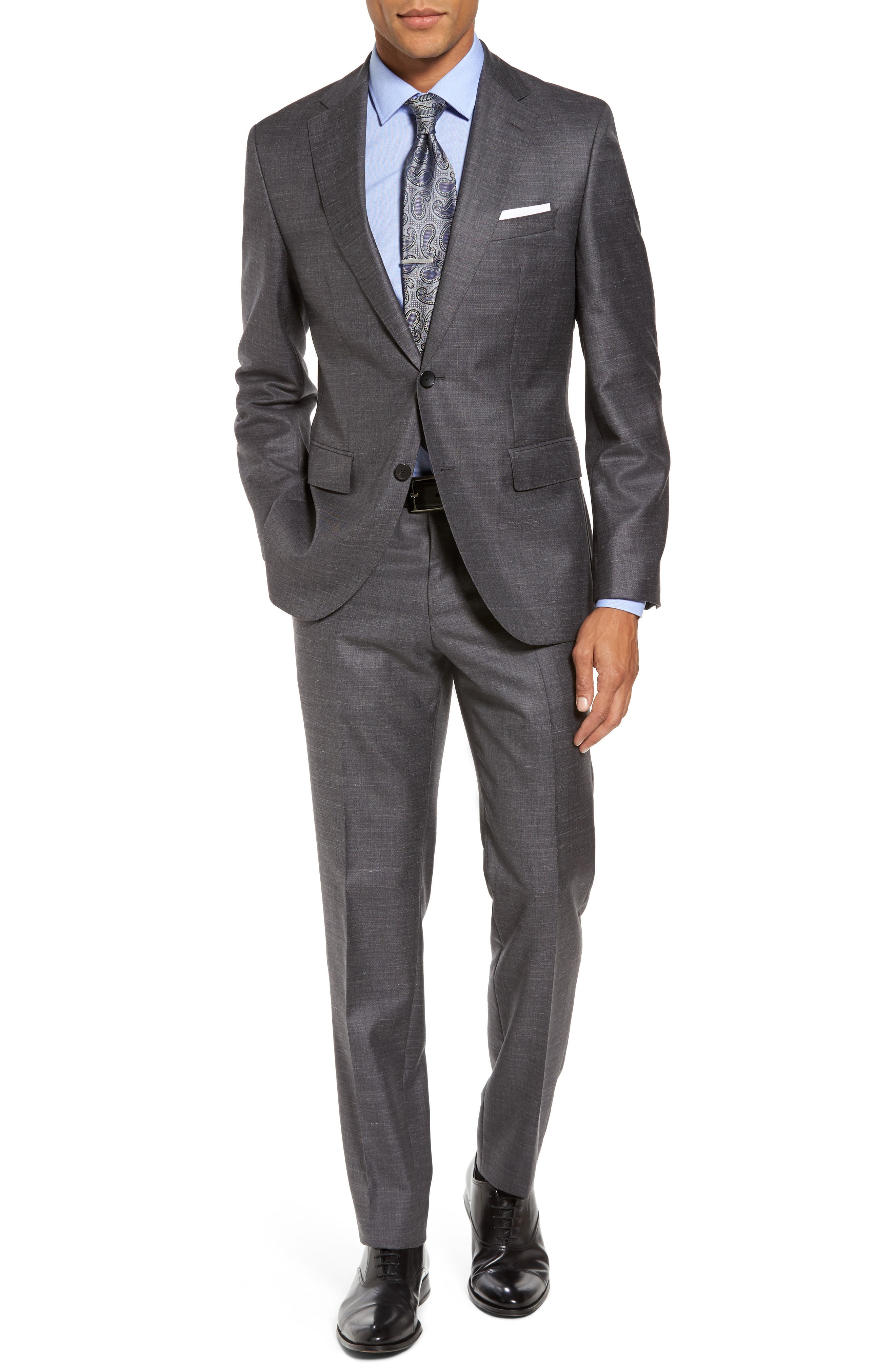BOSS Johnstons/Lenon Classic Fit Solid Wool Blend Suit