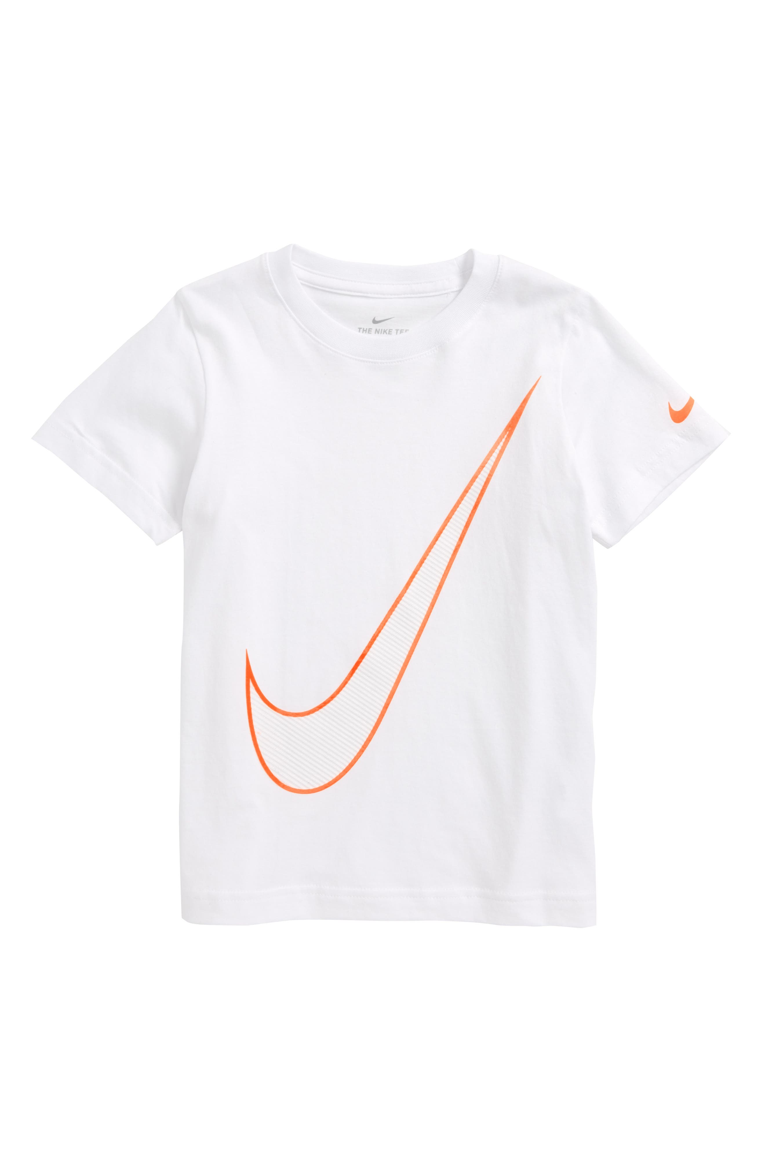 Alternate Image 1 Selected - Nike Oversize Swoosh Graphic T-Shirt (Toddler Boys & Little Boys)