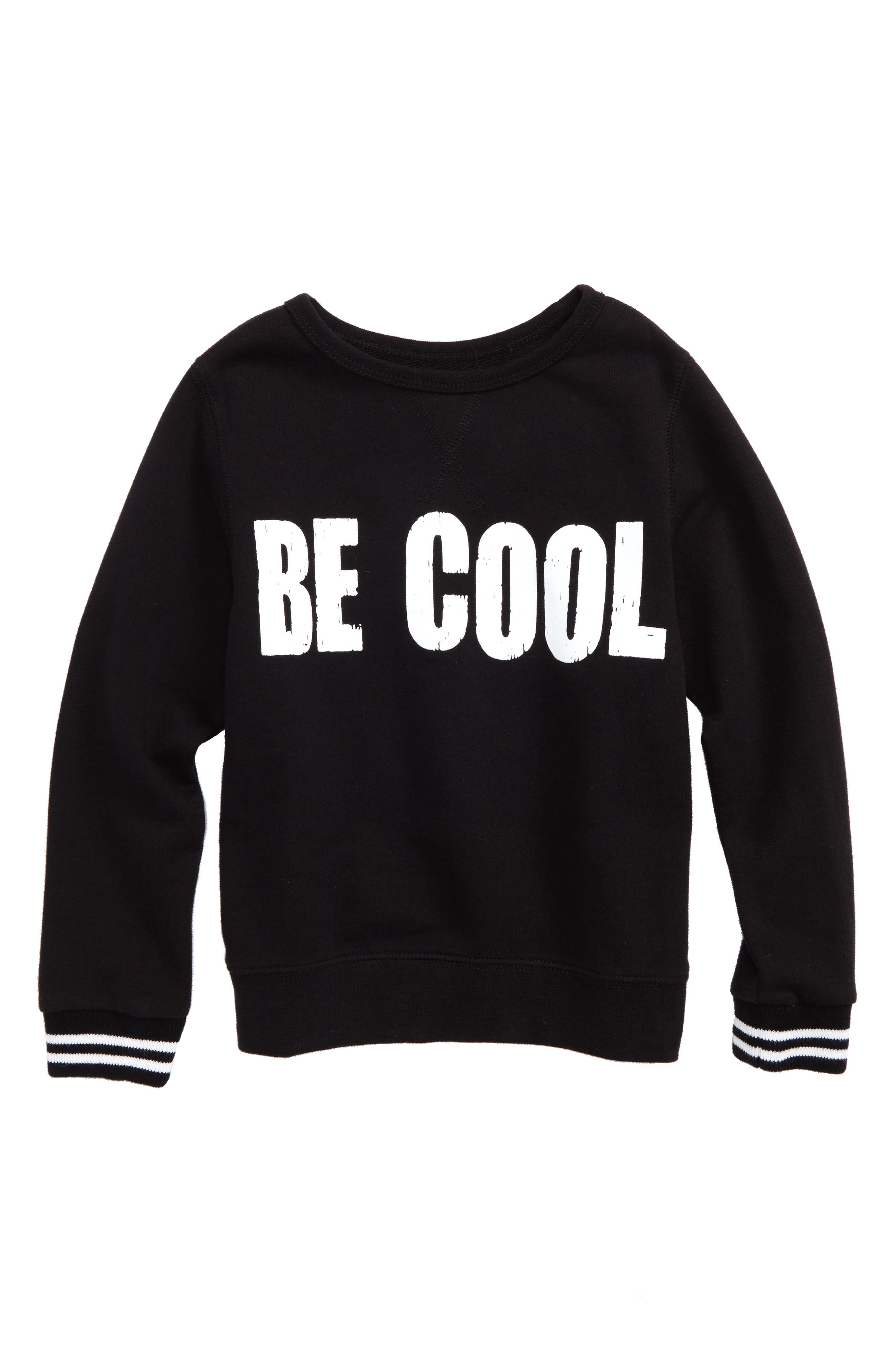 Be Cool Graphic Sweatshirt,                         Main,                         color, Black