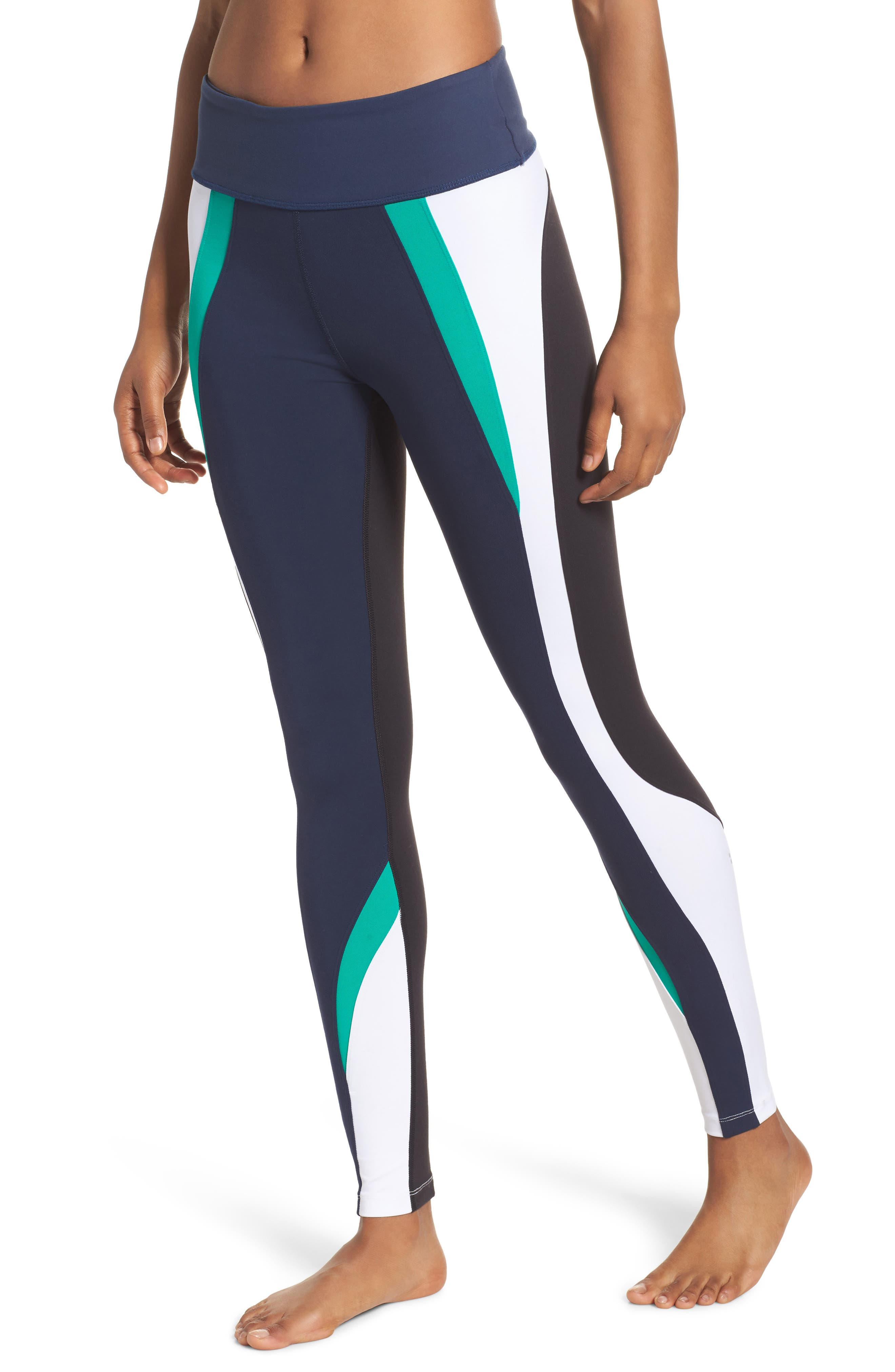 Force Ankle Tights,                             Main thumbnail 1, color,                             Navy/ Kelly/ White/ Black
