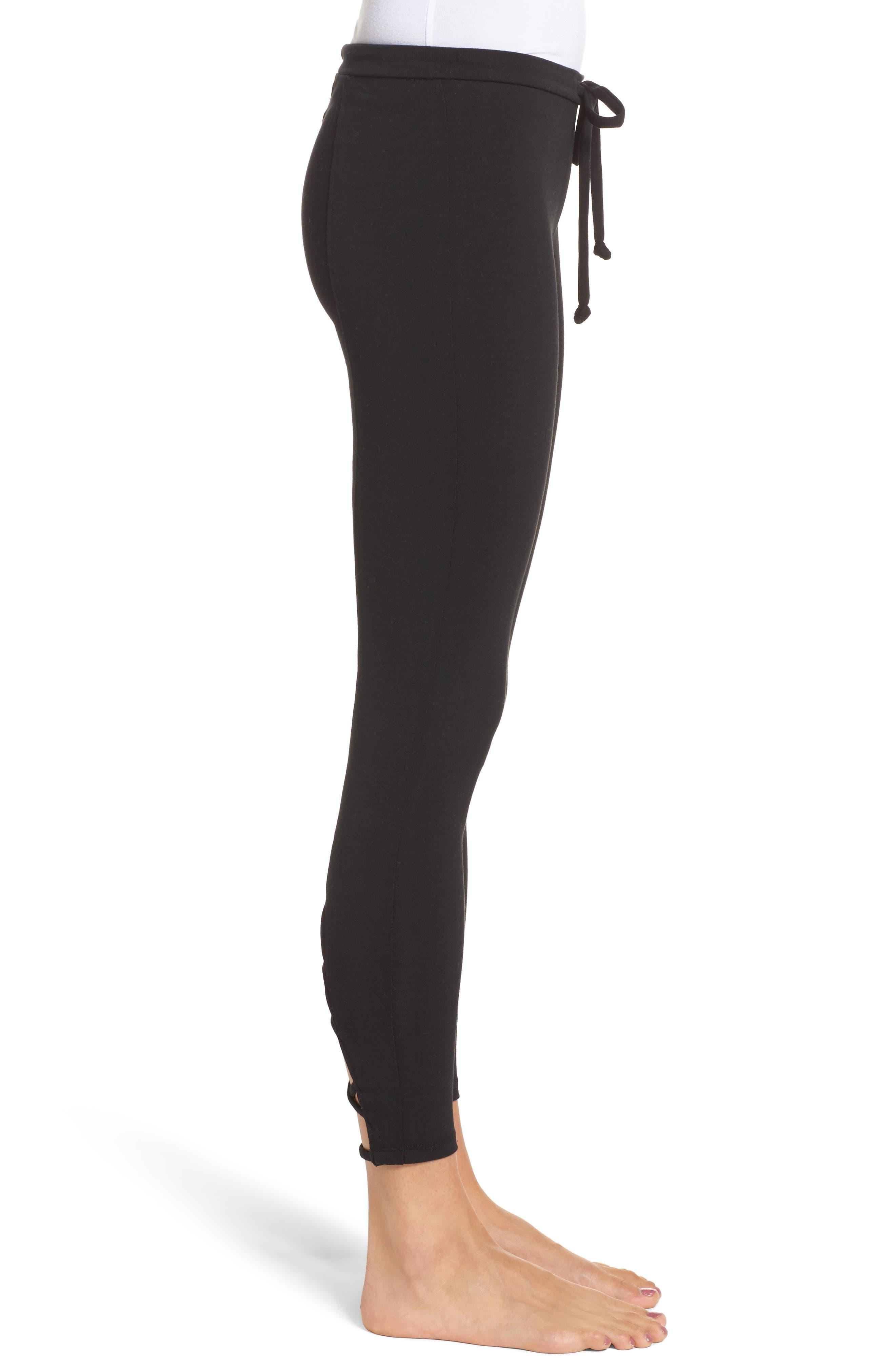 Crisscross Lounge Pants,                             Alternate thumbnail 3, color,                             True Black