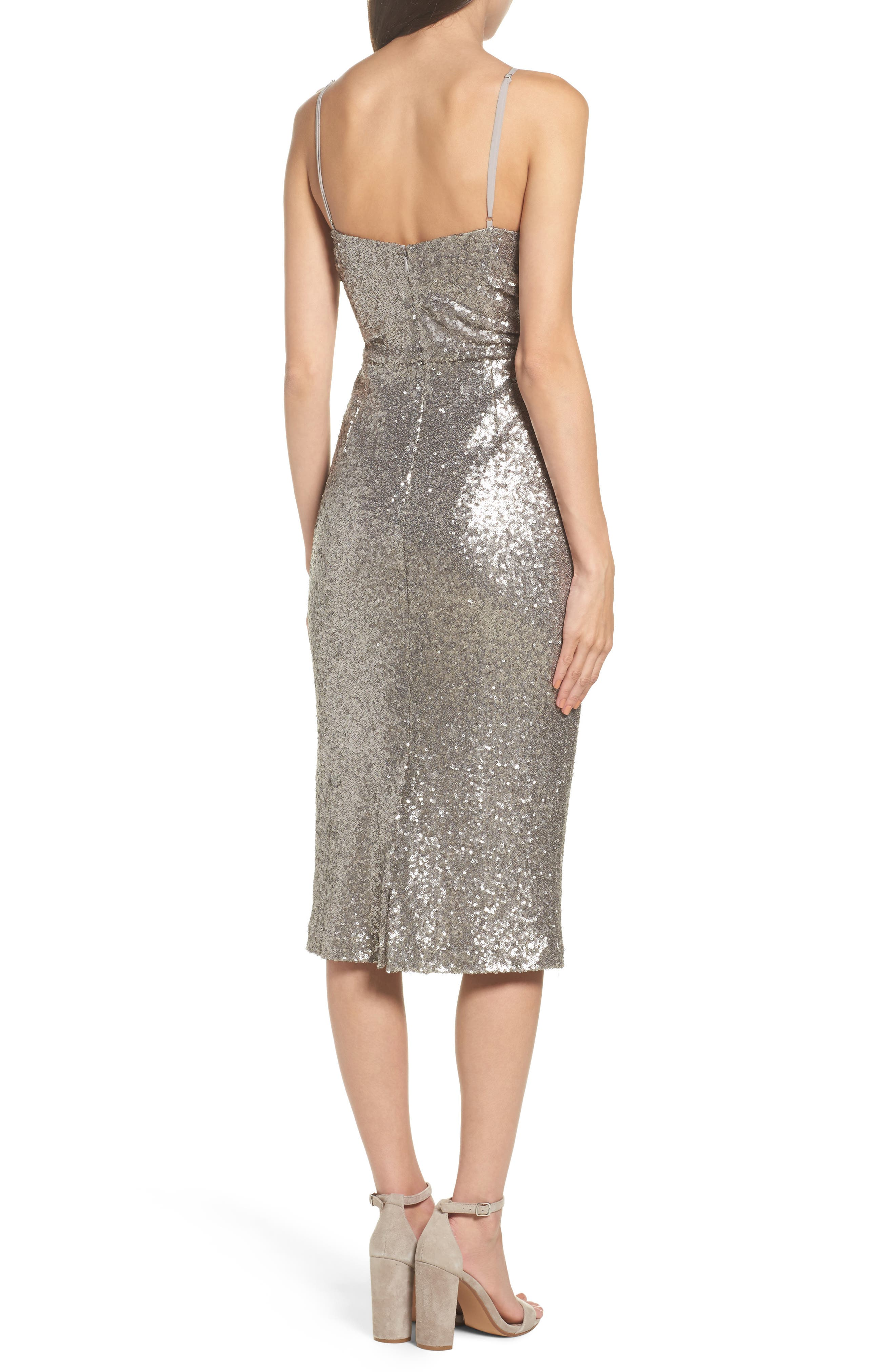Midnight Lucky Sequin Dress,                             Alternate thumbnail 2, color,                             Sequin