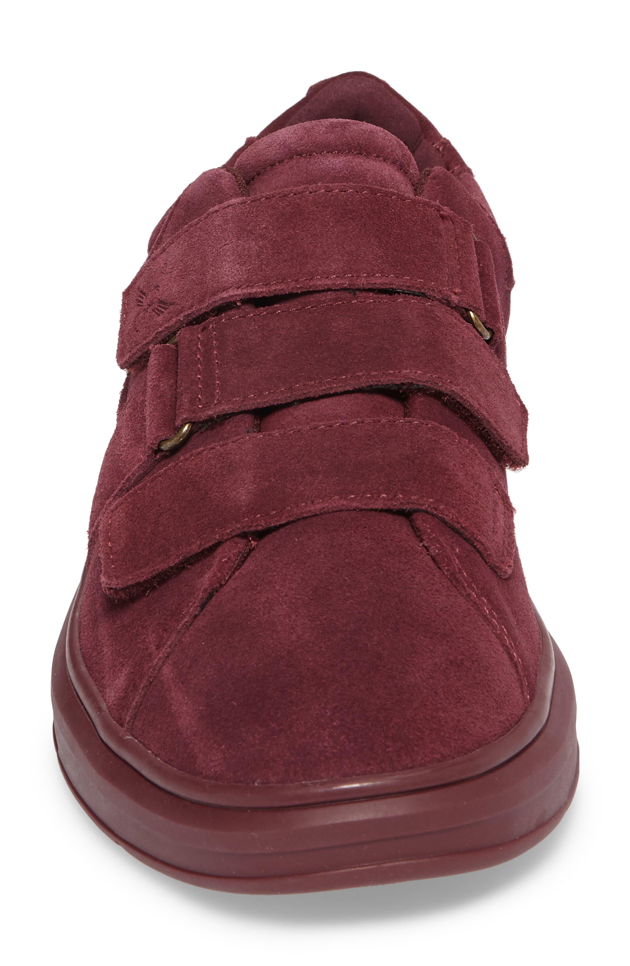 Meleti Sneaker,                             Alternate thumbnail 4, color,                             Dark Burgundy Leather