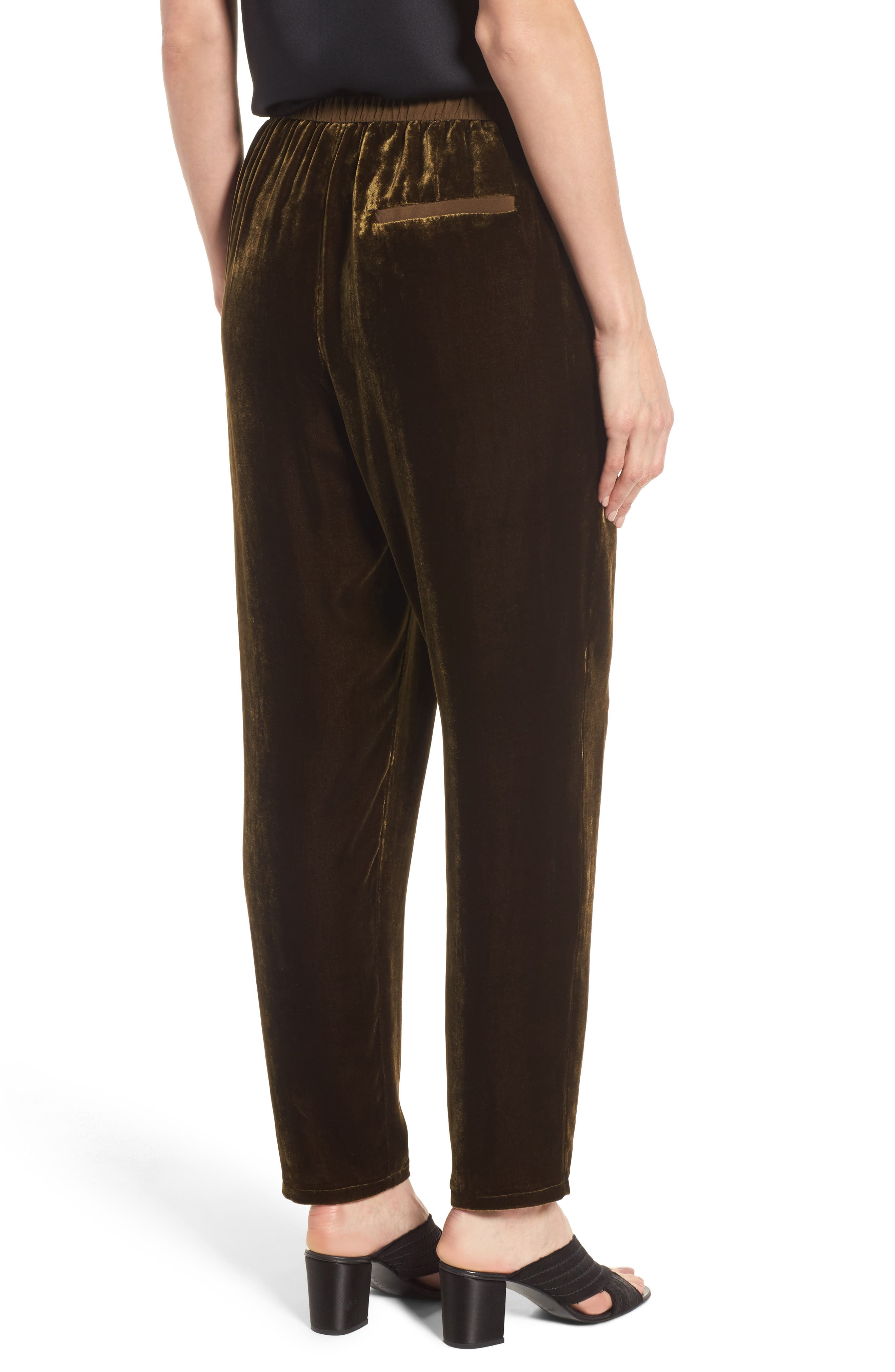 Alternate Image 2  - Eileen Fisher Velvet Ankle Pants (Regular & Petite)