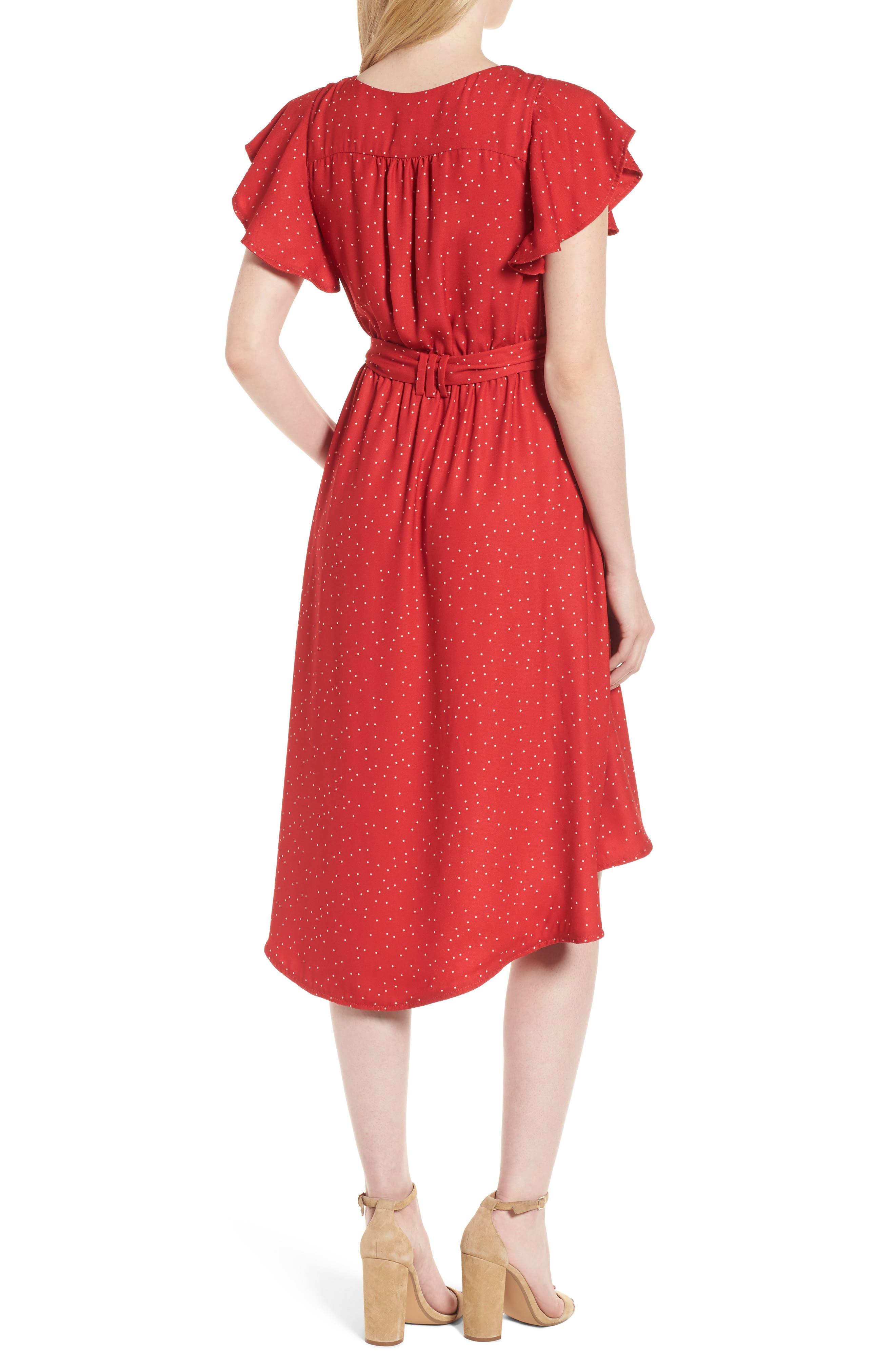 Alternate Image 2  - McGuire Bassinger Faux Wrap High/Low Dress