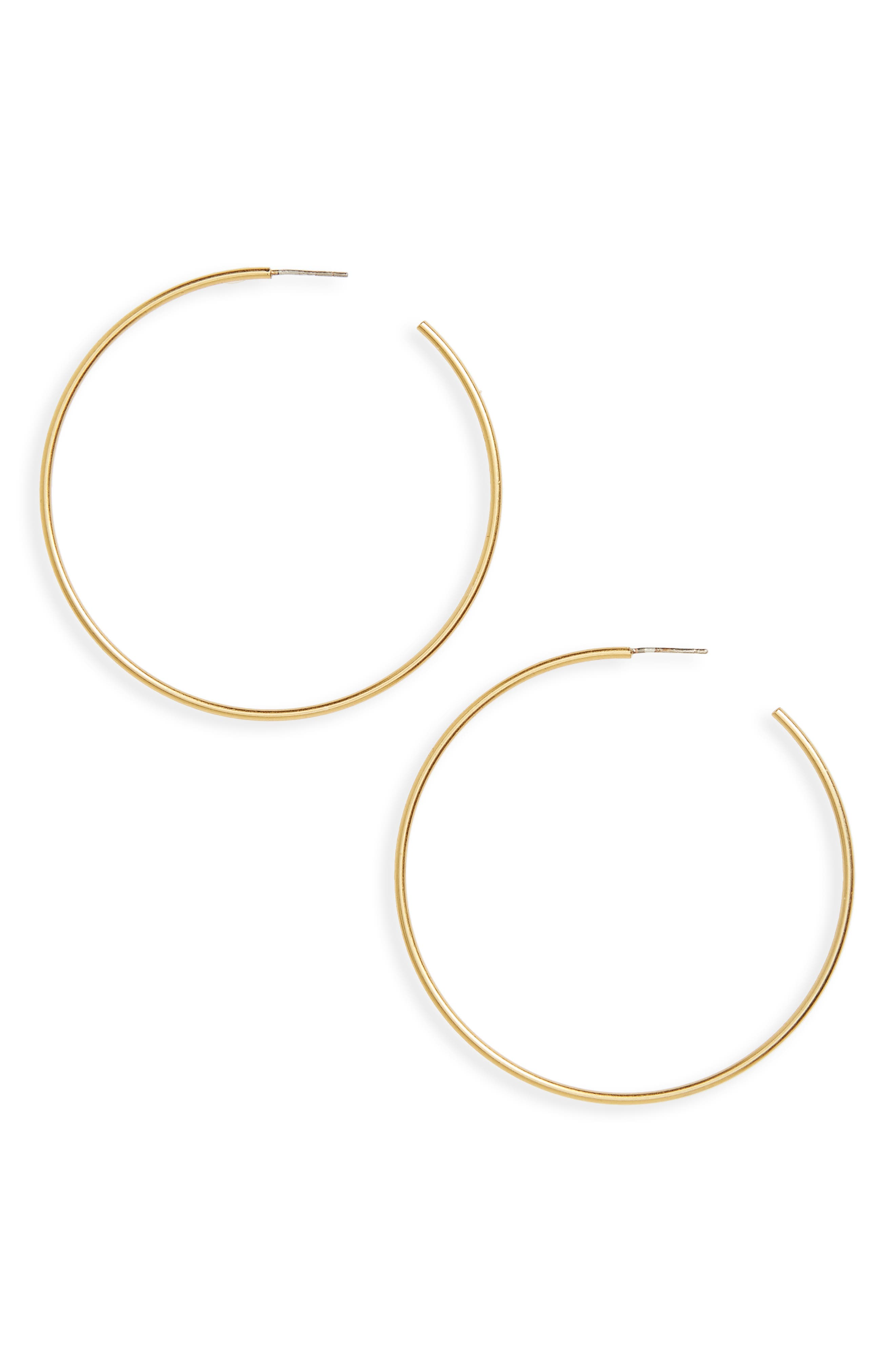 Hoop Earrings,                             Main thumbnail 1, color,                             Vintage Gold