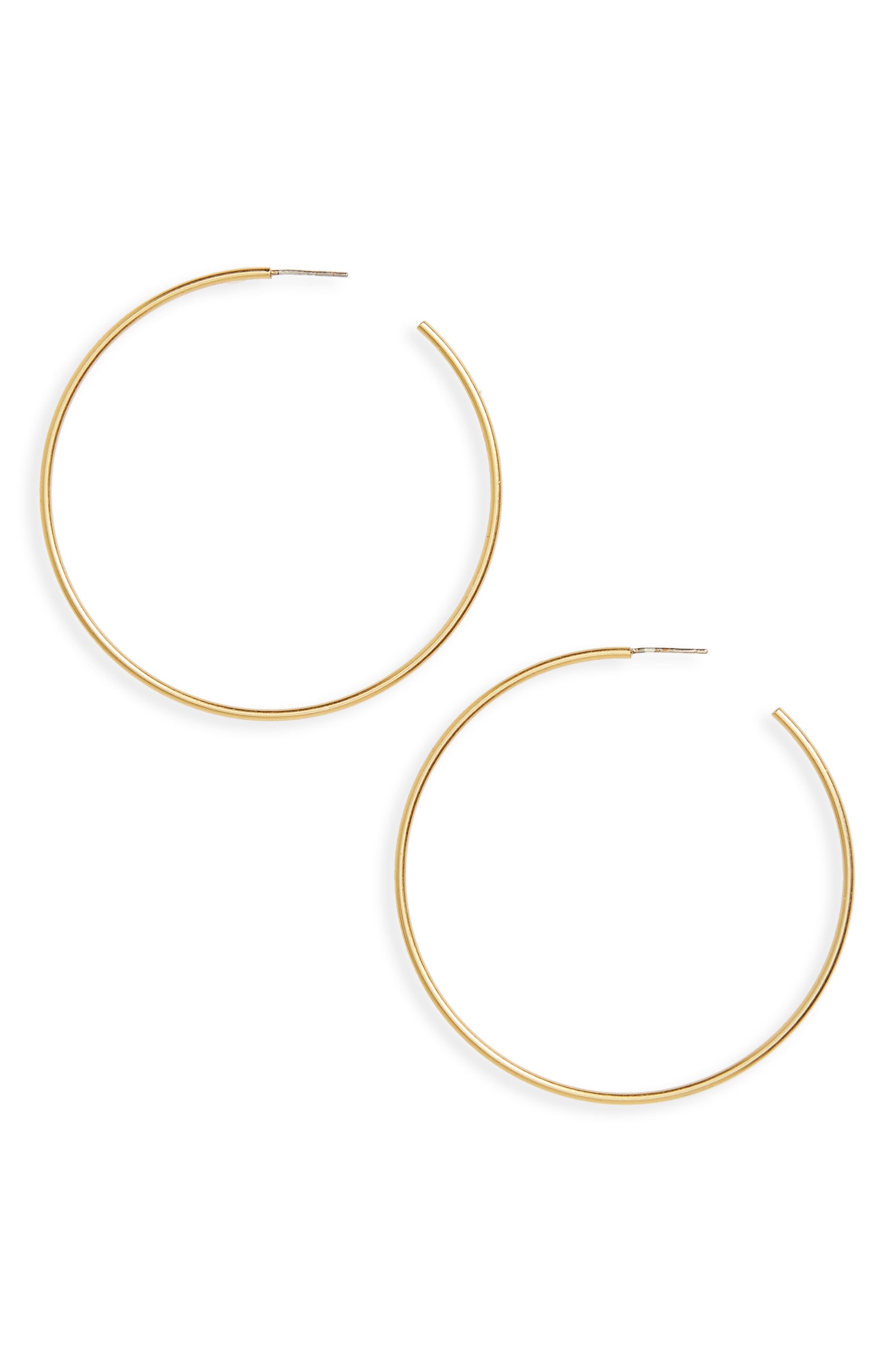 Hoop Earrings,                         Main,                         color, Vintage Gold