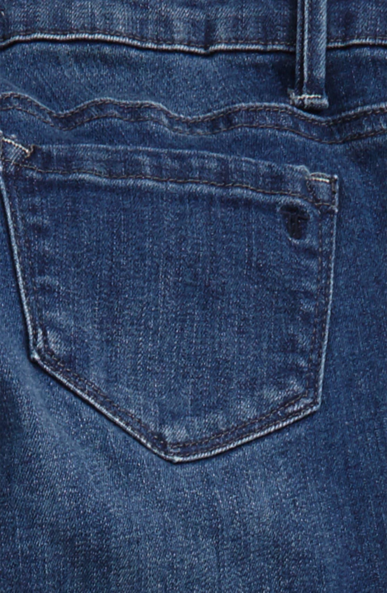 Alternate Image 3  - Tractr Frayed Hem Crop Jeans (Big Girls)