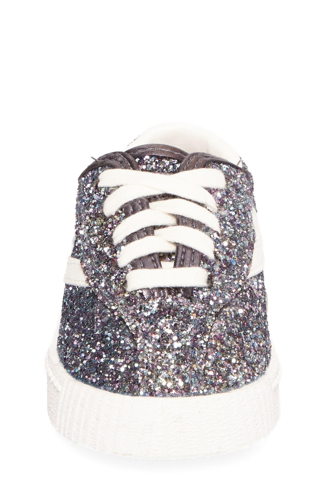 Nylite Sugar Glitter Sneaker,                             Alternate thumbnail 4, color,                             Dark Grey Glitter