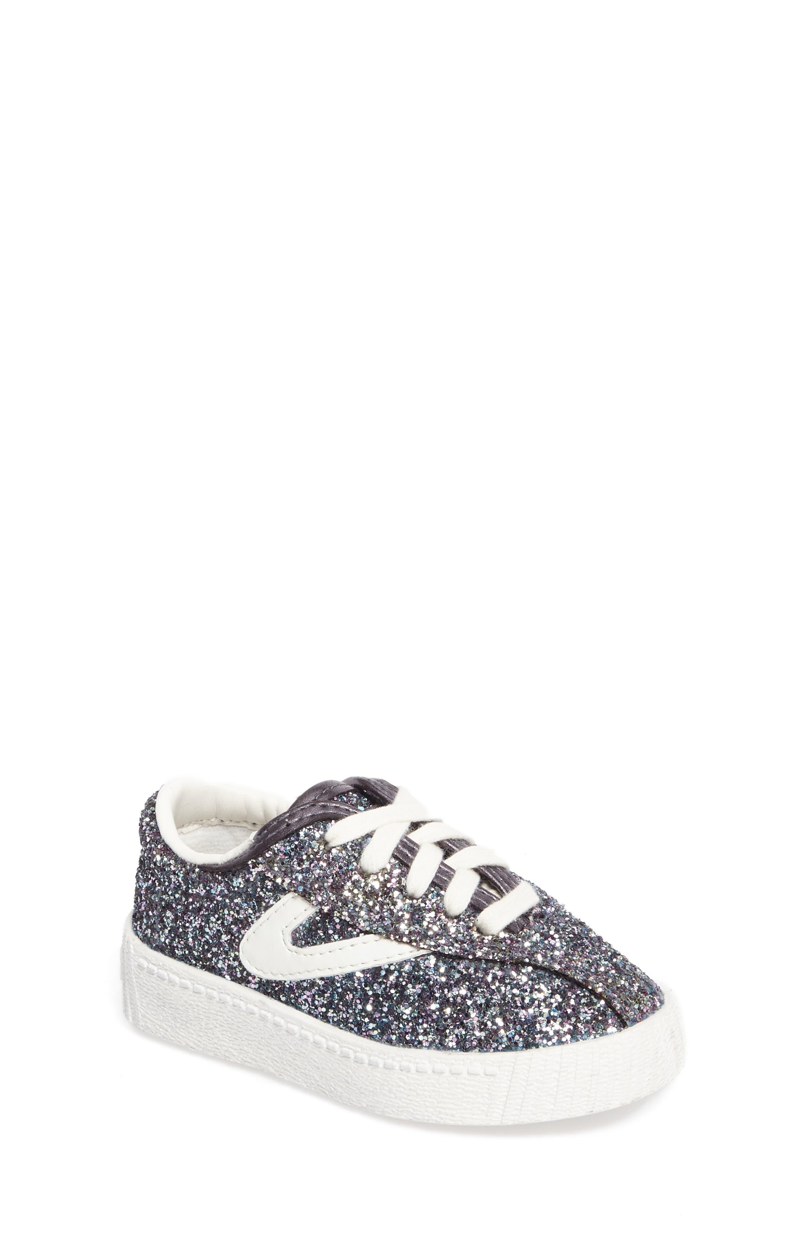 Nylite Sugar Glitter Sneaker,                         Main,                         color, Dark Grey Glitter
