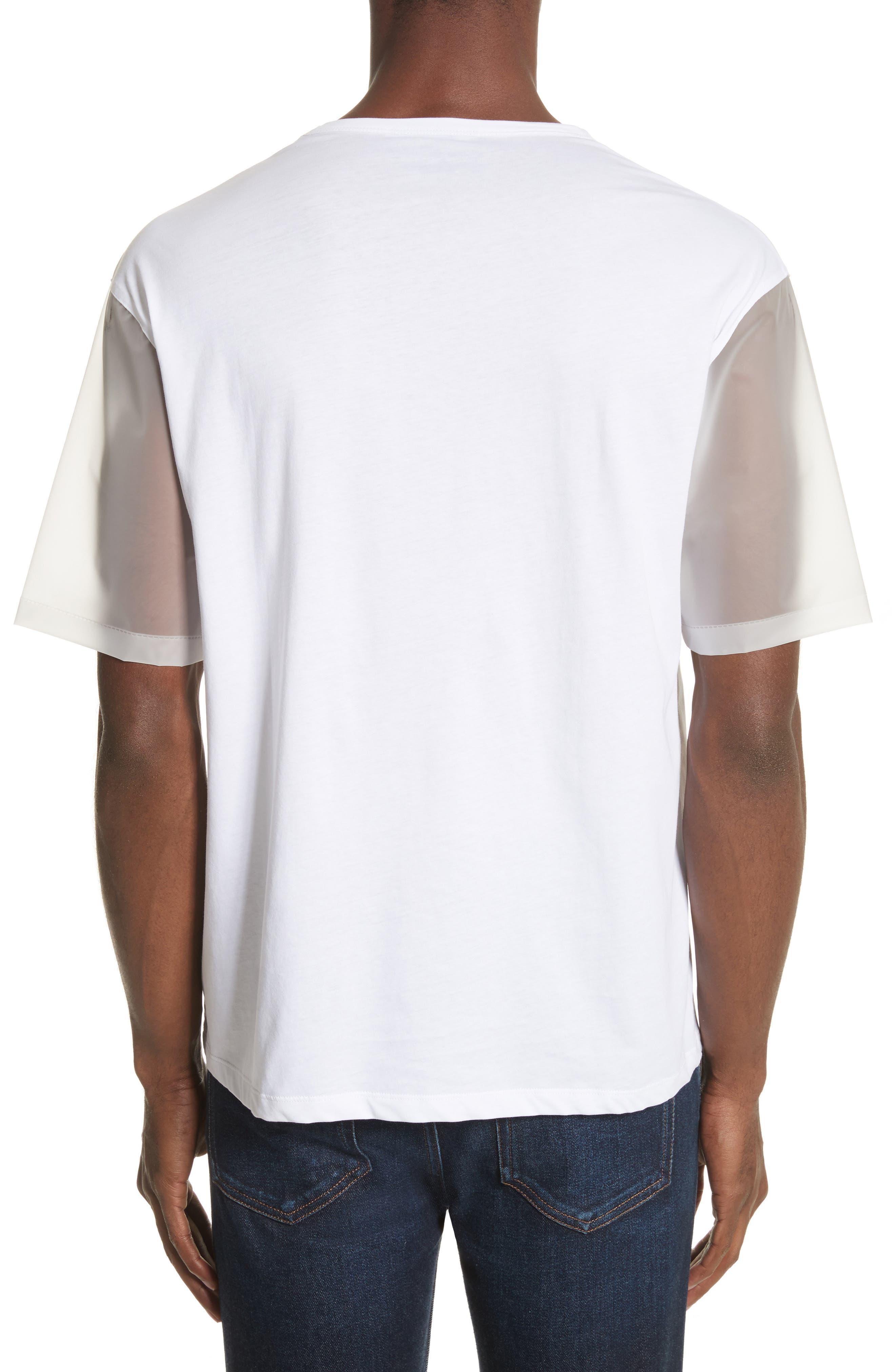 Plastic Sleeve T-Shirt,                             Alternate thumbnail 2, color,                             White