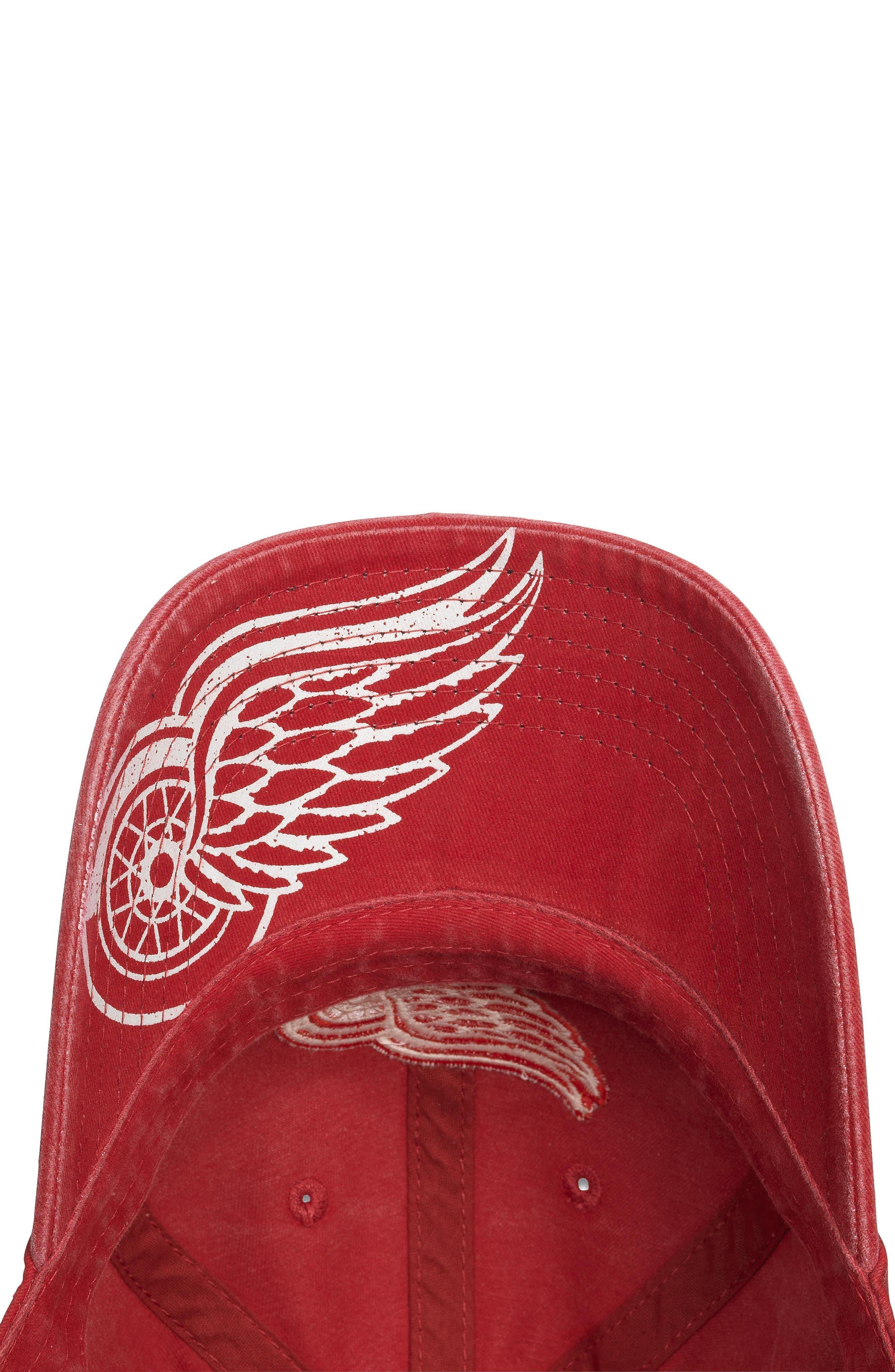 New Raglan NHL Cap,                             Alternate thumbnail 2, color,                             Red Wings/ Red