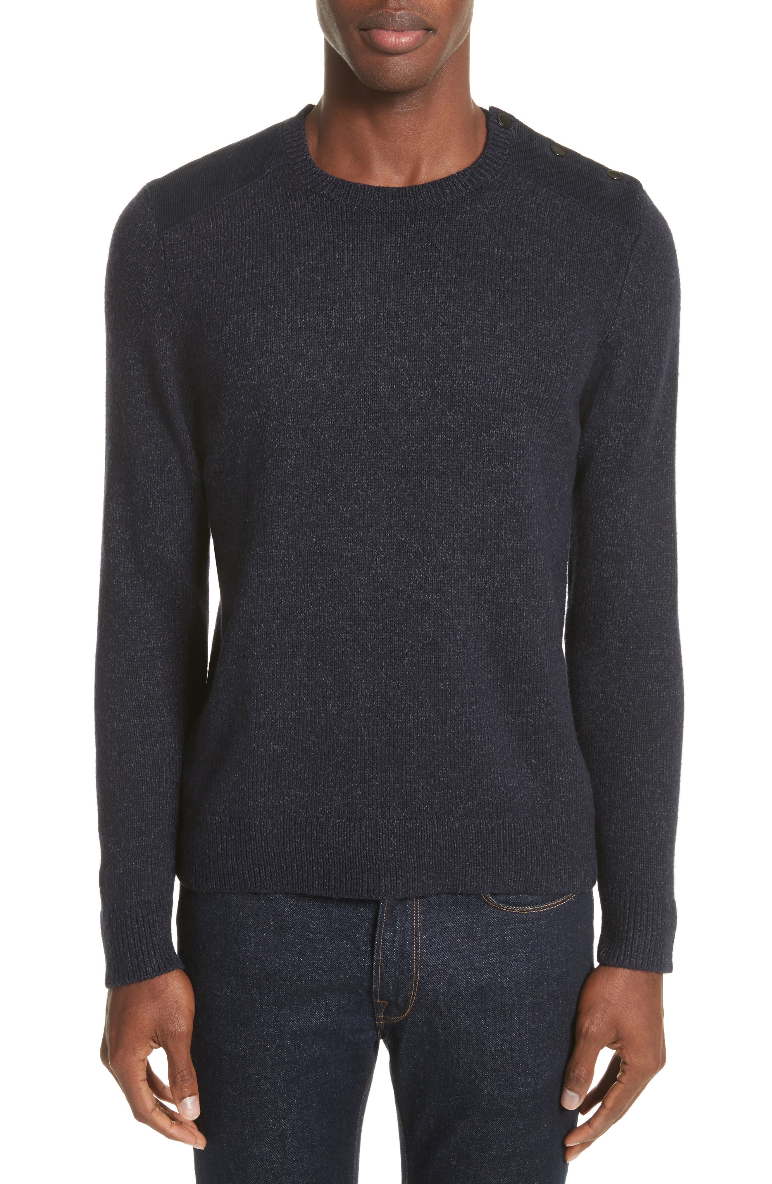 The Kooples SPORT Sweater with Shoulder Placket