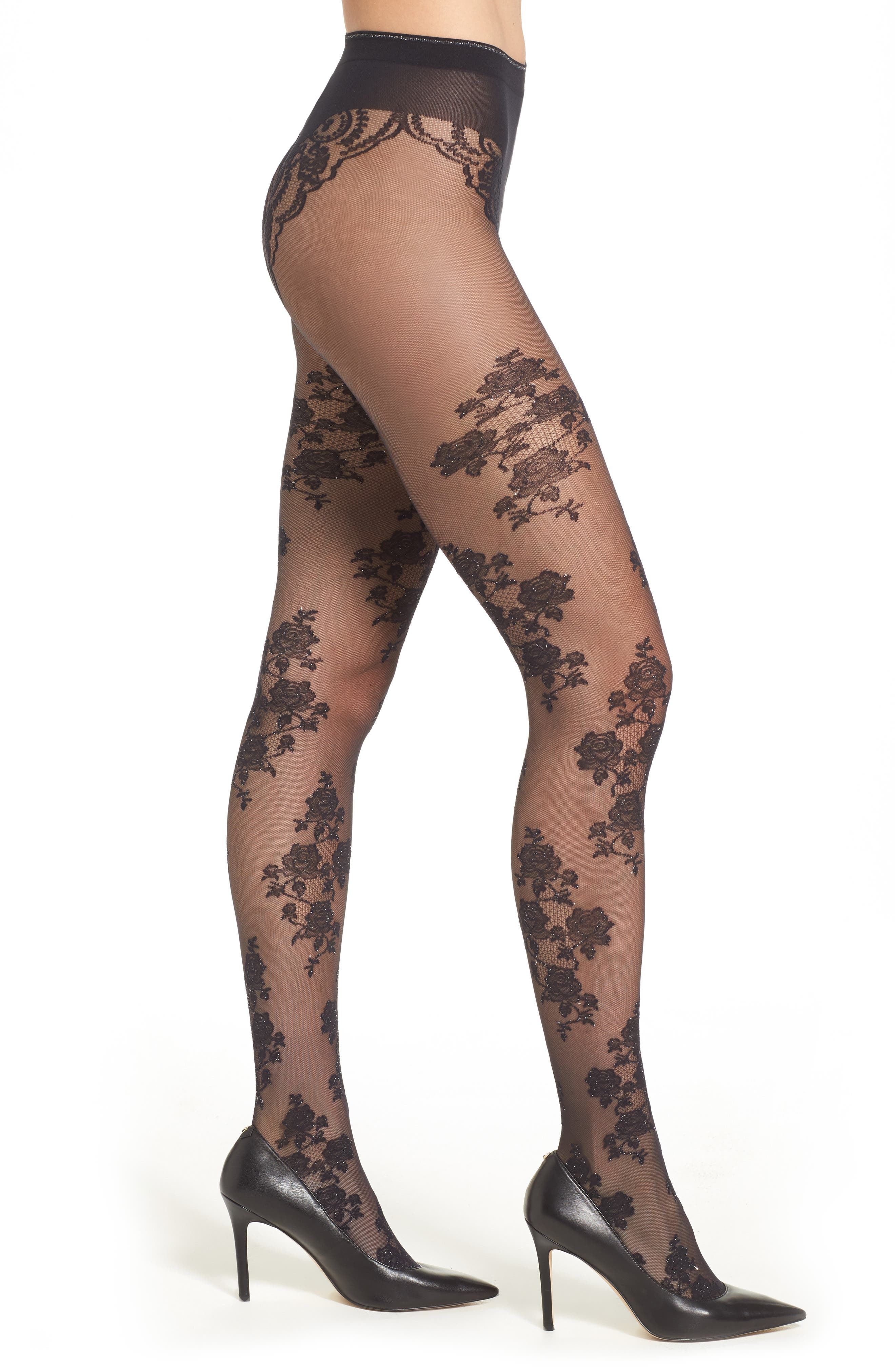 Stephany Tights,                             Main thumbnail 1, color,                             Black