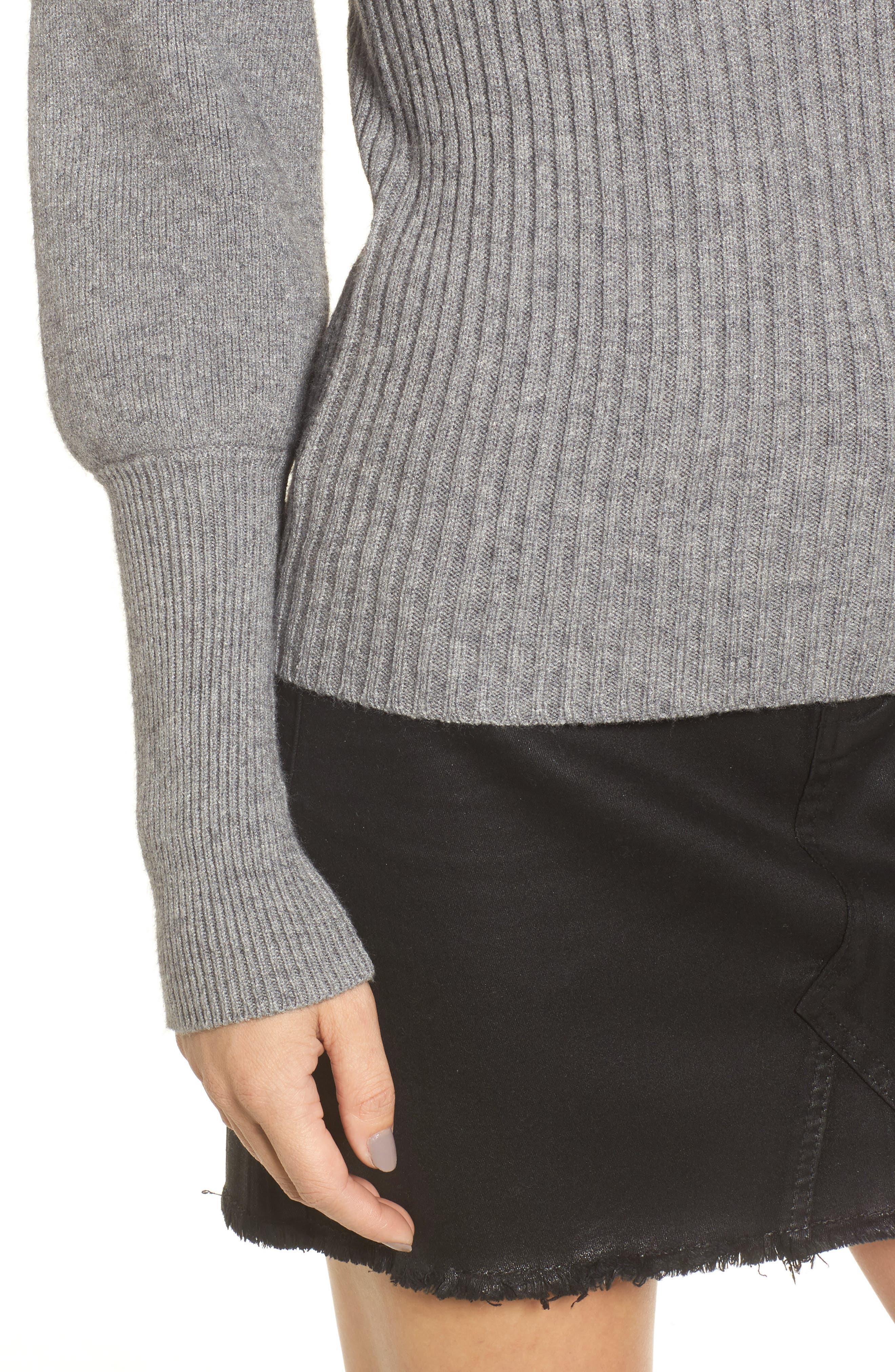 Alternate Image 4  - MOON RIVER Puff Sleeve Sweater