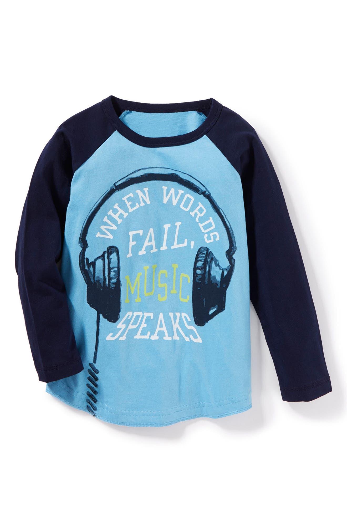 Main Image - Peek Music Speaks Graphic Long Sleeve T-Shirt (Toddler Boys, Little Boys & Big Boys)