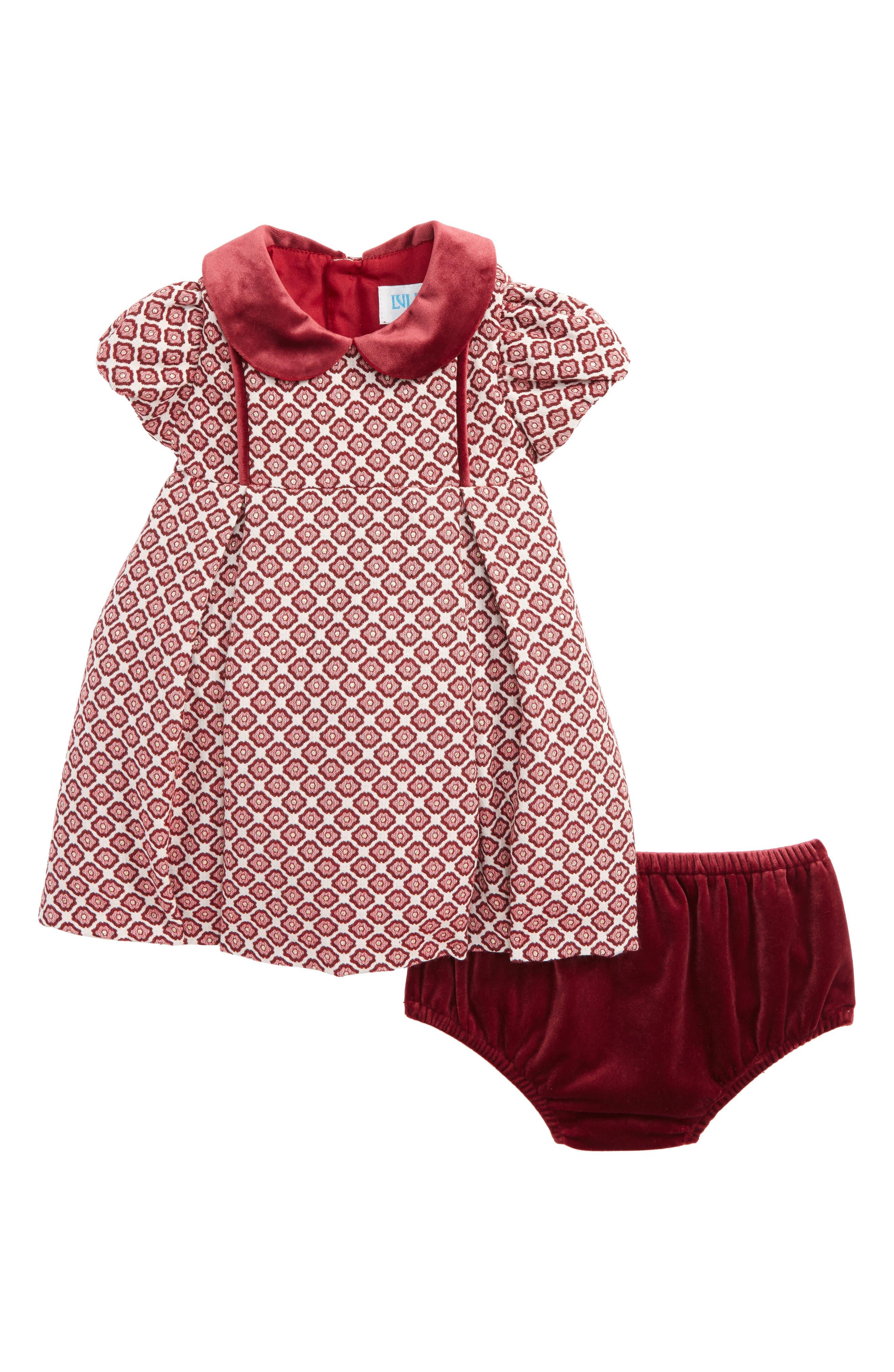 Alternate Image 1 Selected - Luli & Me Floral Jacquard Dress (Baby Girls)