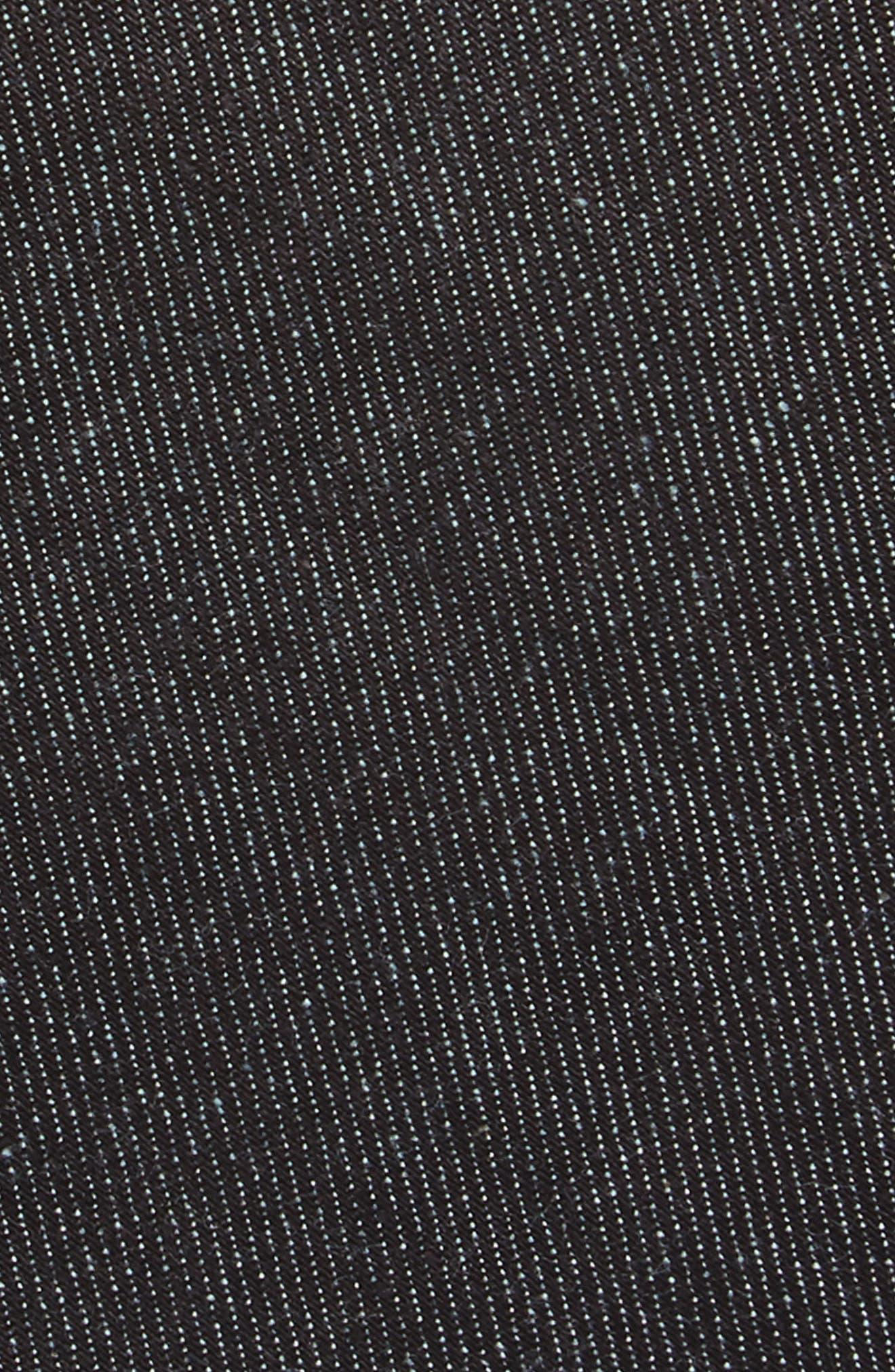 Bartlett Solid Cotton Tie,                             Alternate thumbnail 2, color,                             Black