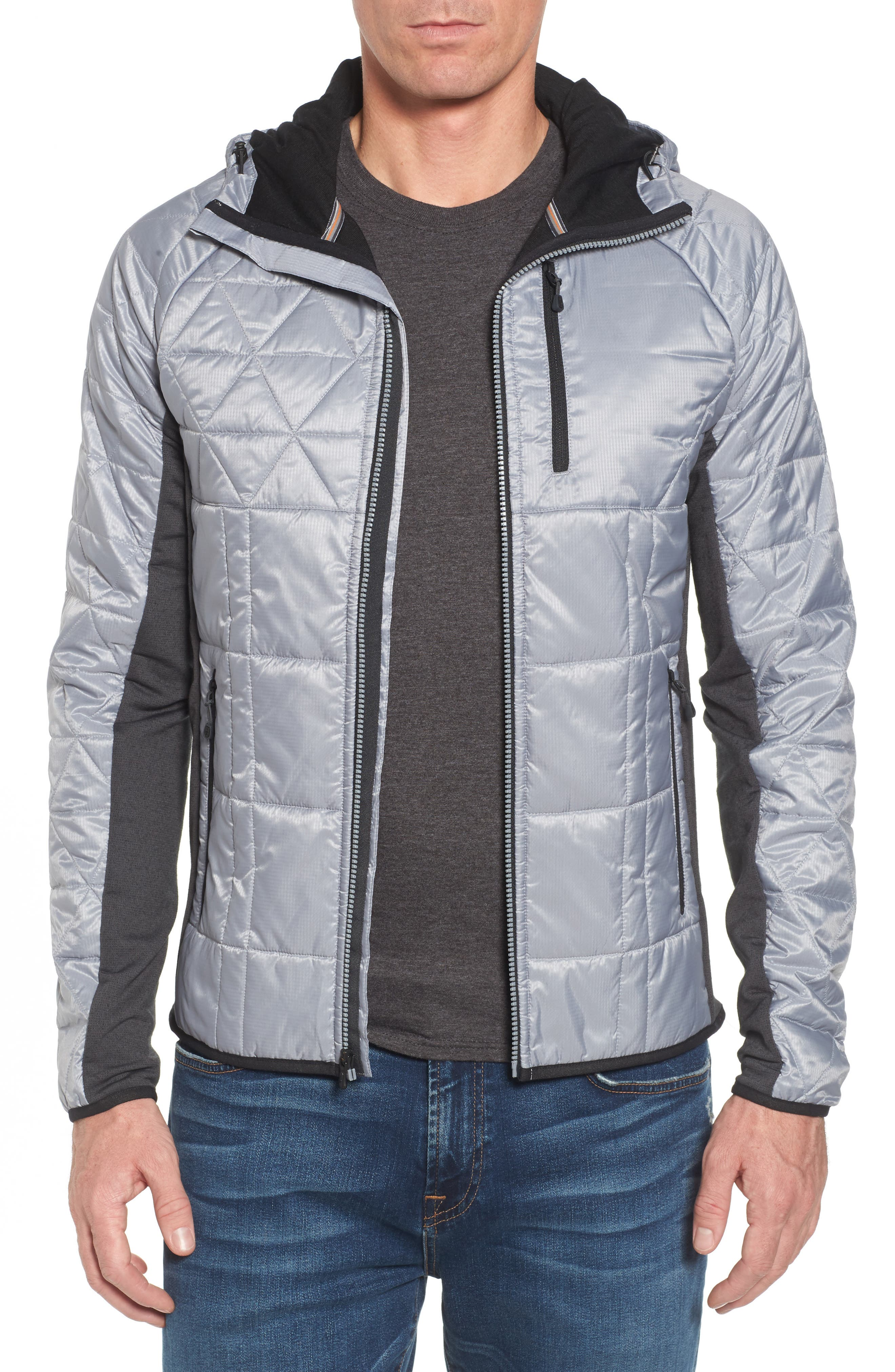 Double Corbet 120 Water Resistant Quilted Jacket,                         Main,                         color, Silver