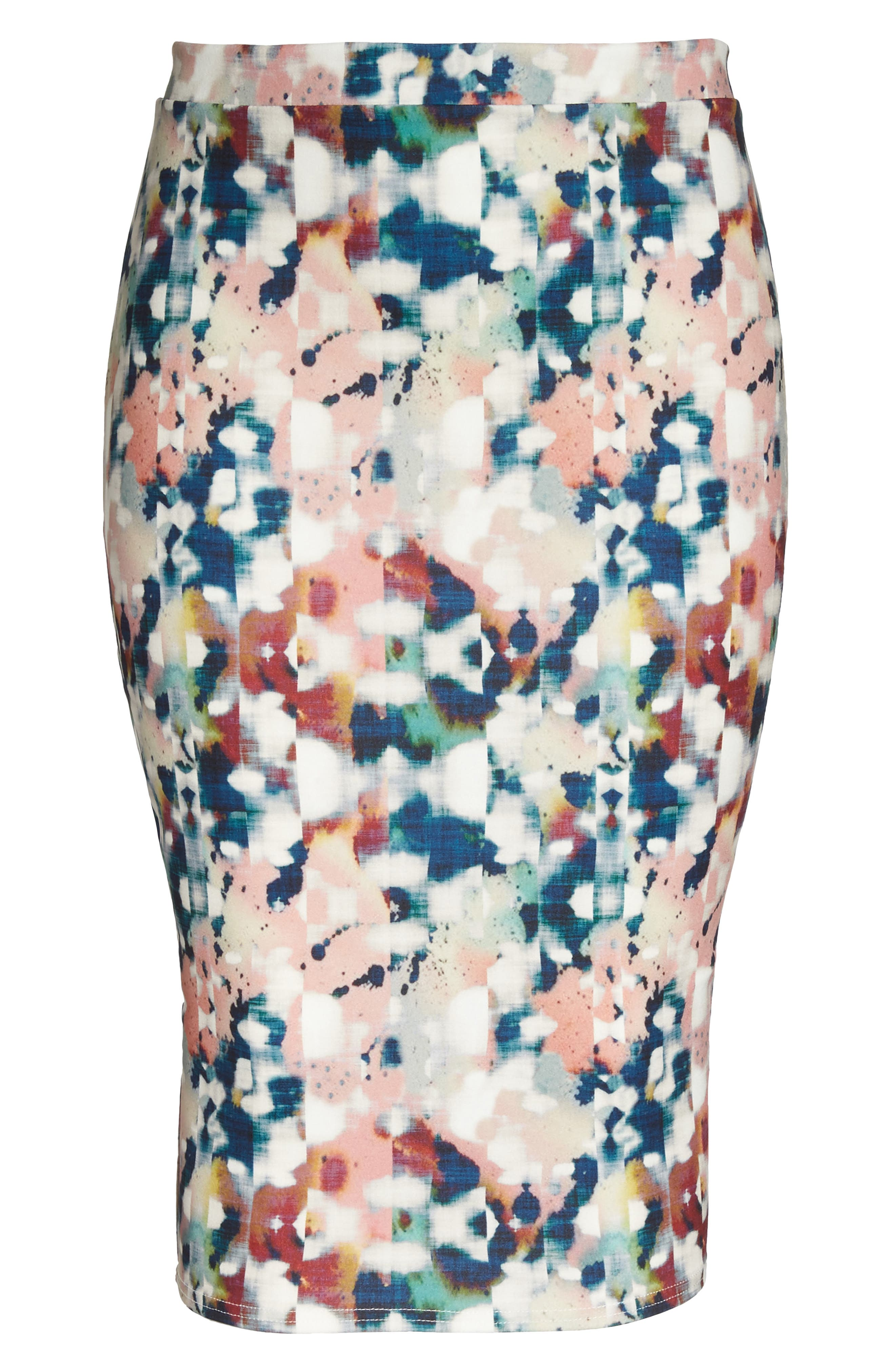 Alternate Image 6  - LOST INK Abstract Print Pencil Skirt (Plus Size)