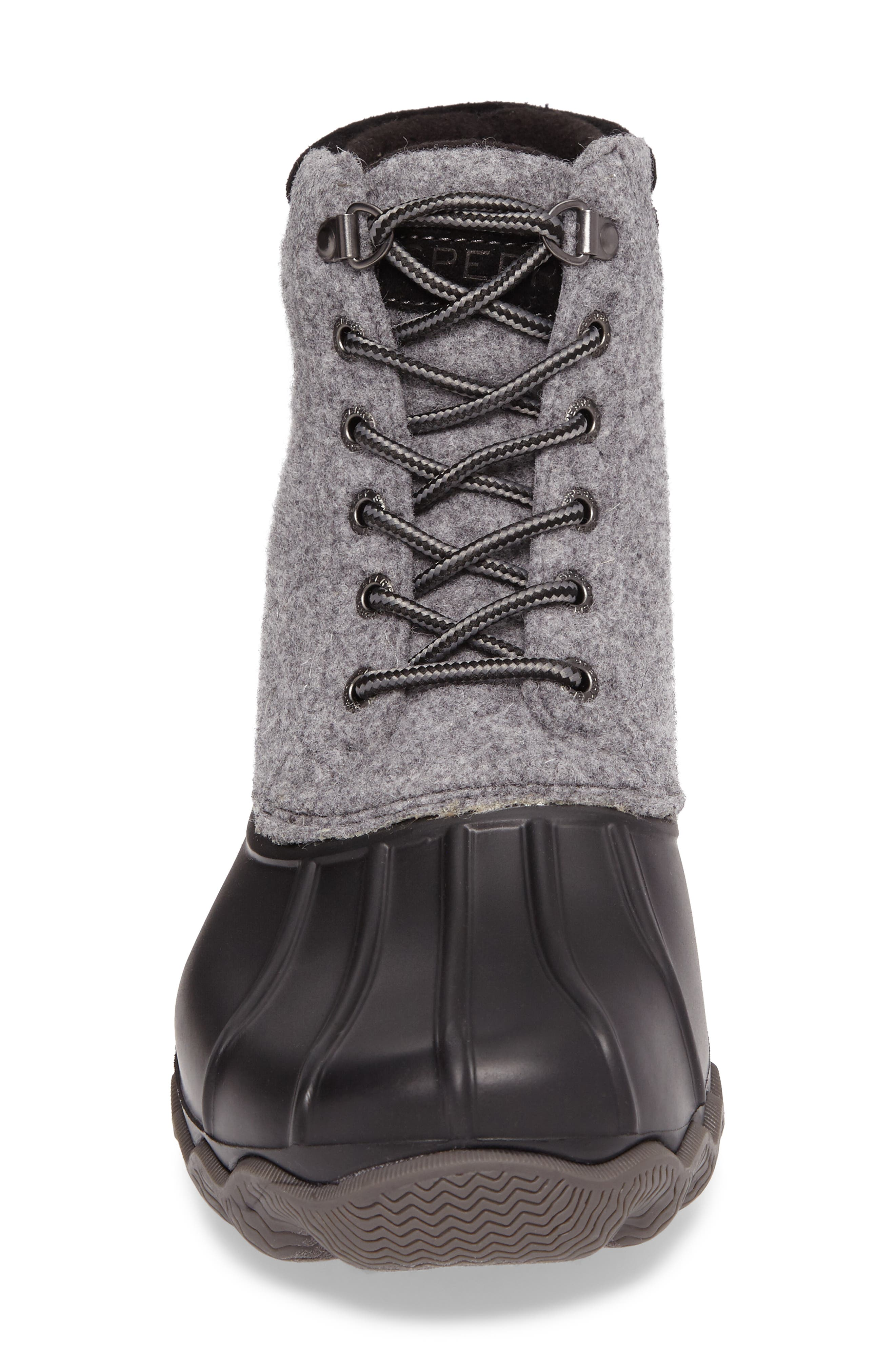 Avenue Rain Boot,                             Alternate thumbnail 4, color,                             Grey Leather