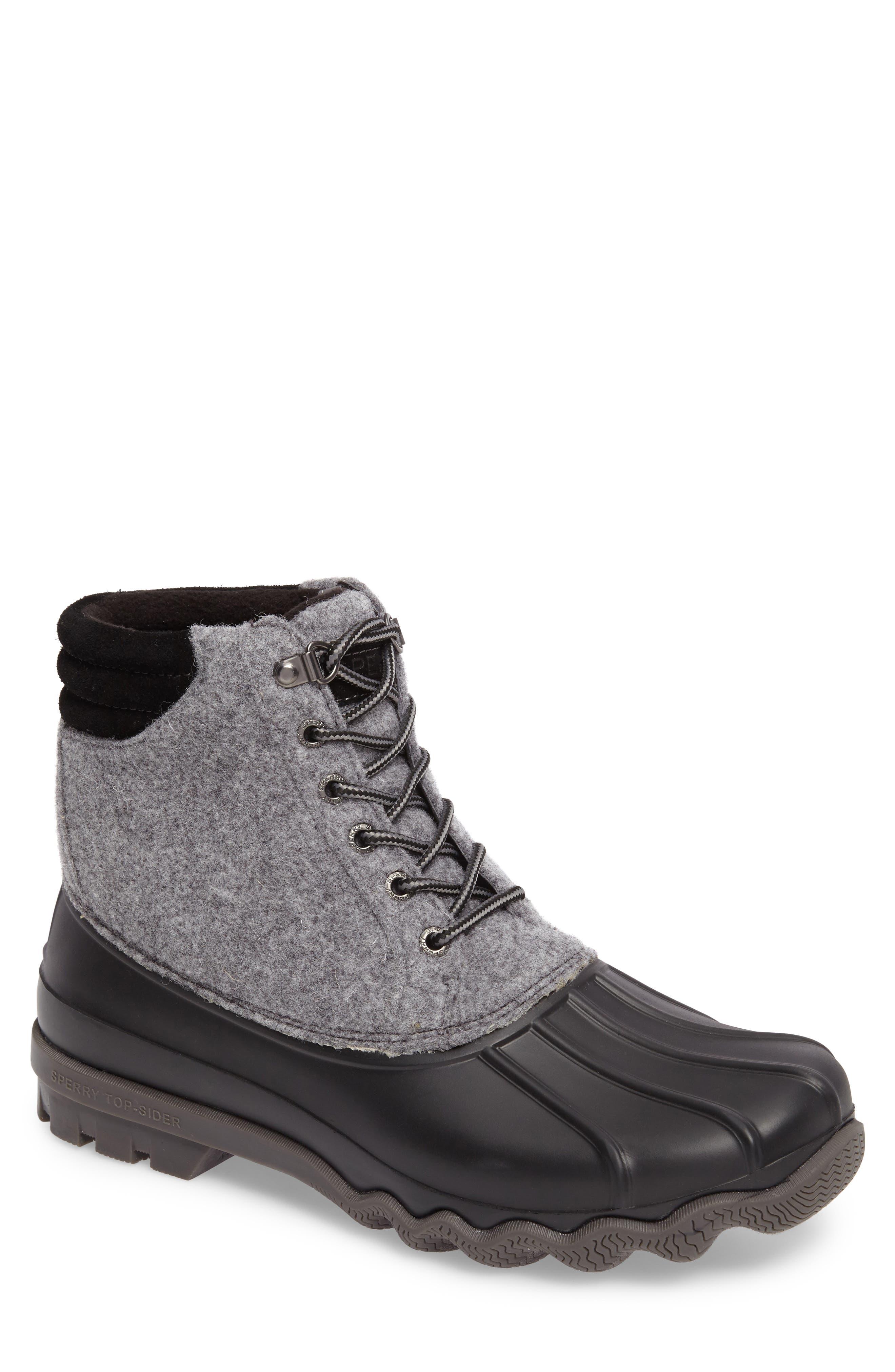 Avenue Rain Boot,                         Main,                         color, Grey Leather