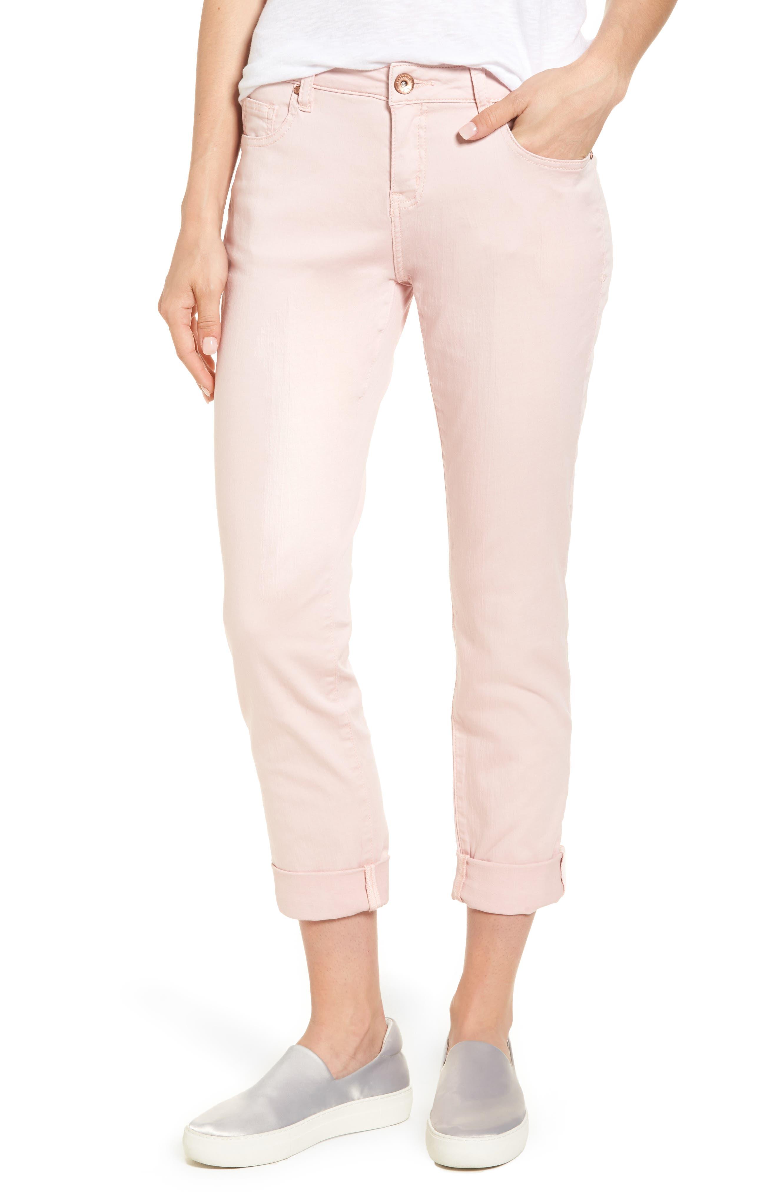 Jag Jeans Carter Knit Denim Girlfriend Jeans (Conch Shell)