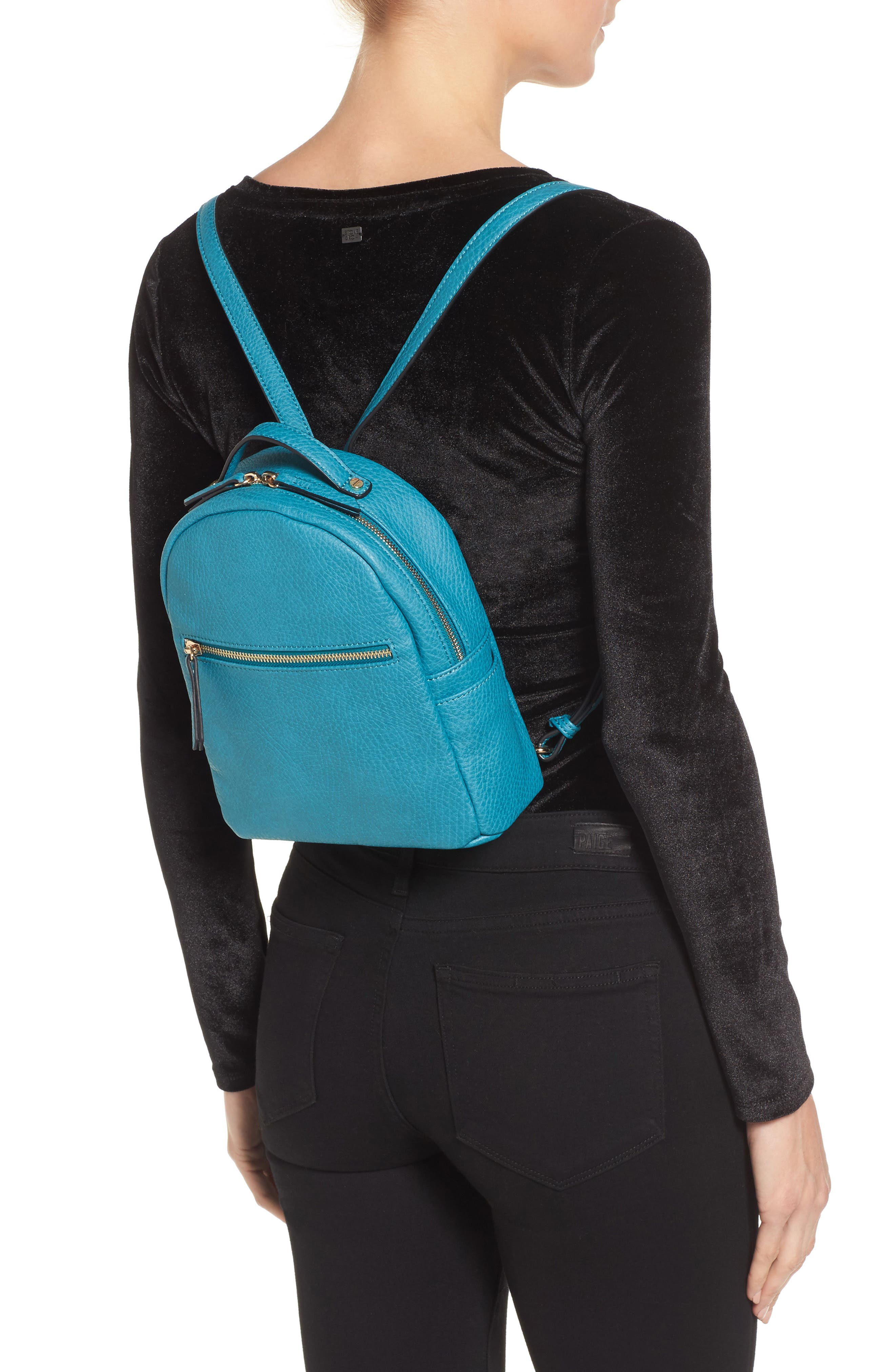 Mali + Lili Vegan Leather Backpack,                             Alternate thumbnail 2, color,                             Blue
