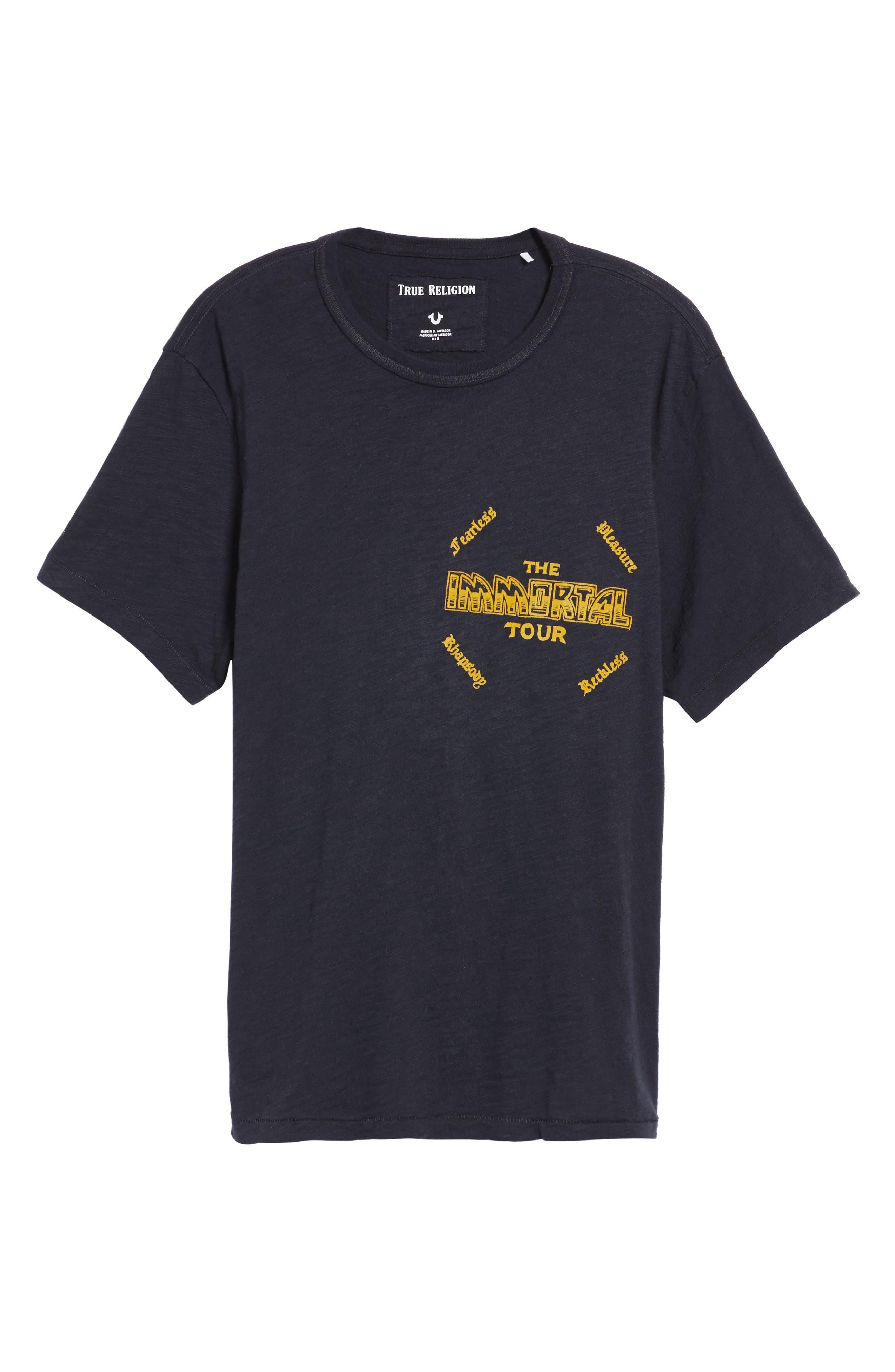 Handbill T-Shirt,                             Alternate thumbnail 6, color,                             Black
