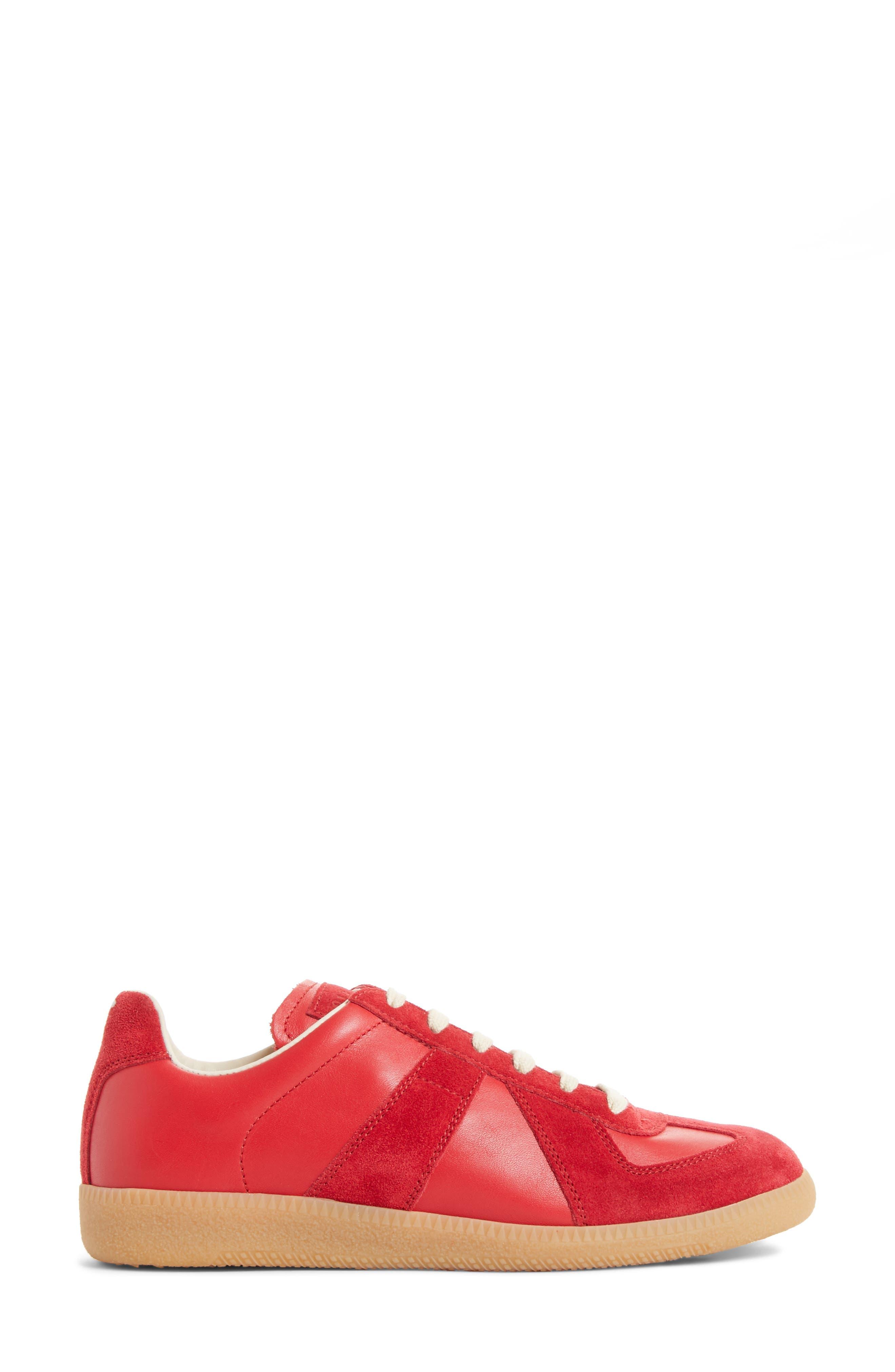 Replica Sneaker,                             Alternate thumbnail 3, color,                             Red/Amber