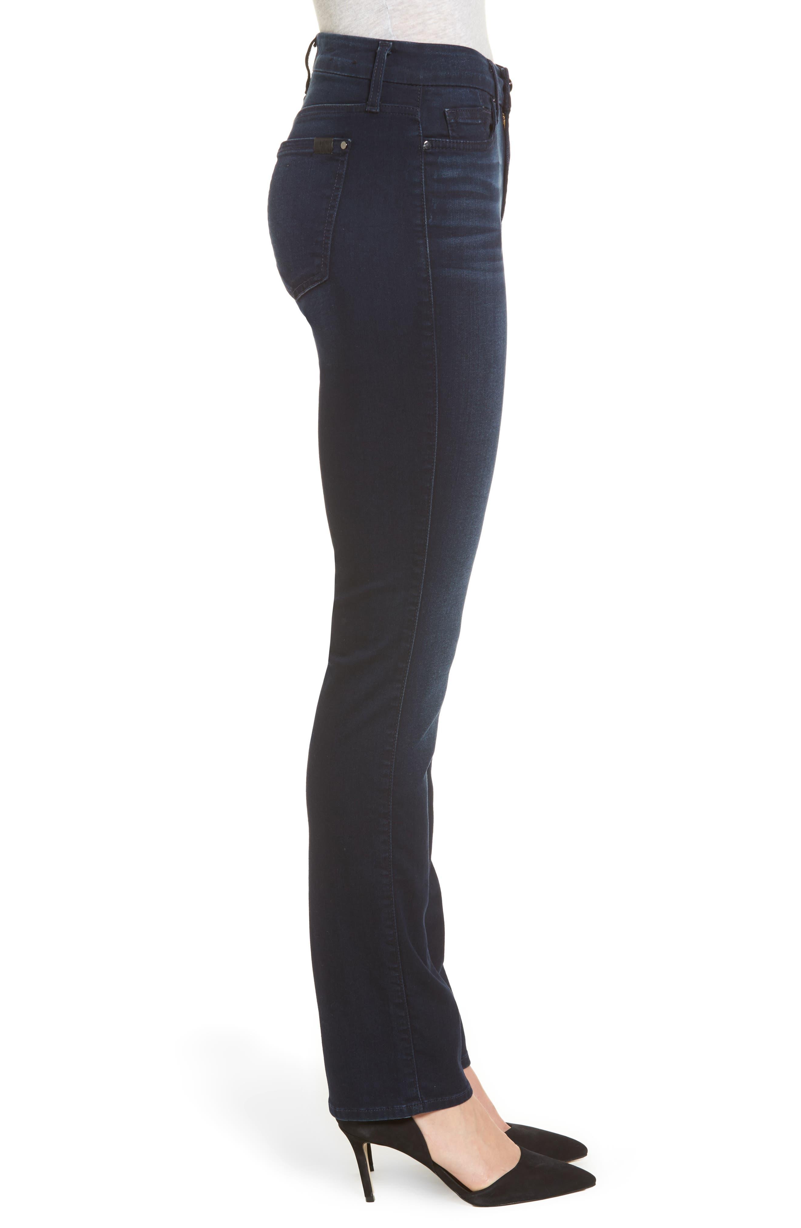 Slim Straight Jeans,                             Alternate thumbnail 2, color,                             Riche Touch Blue/ Black