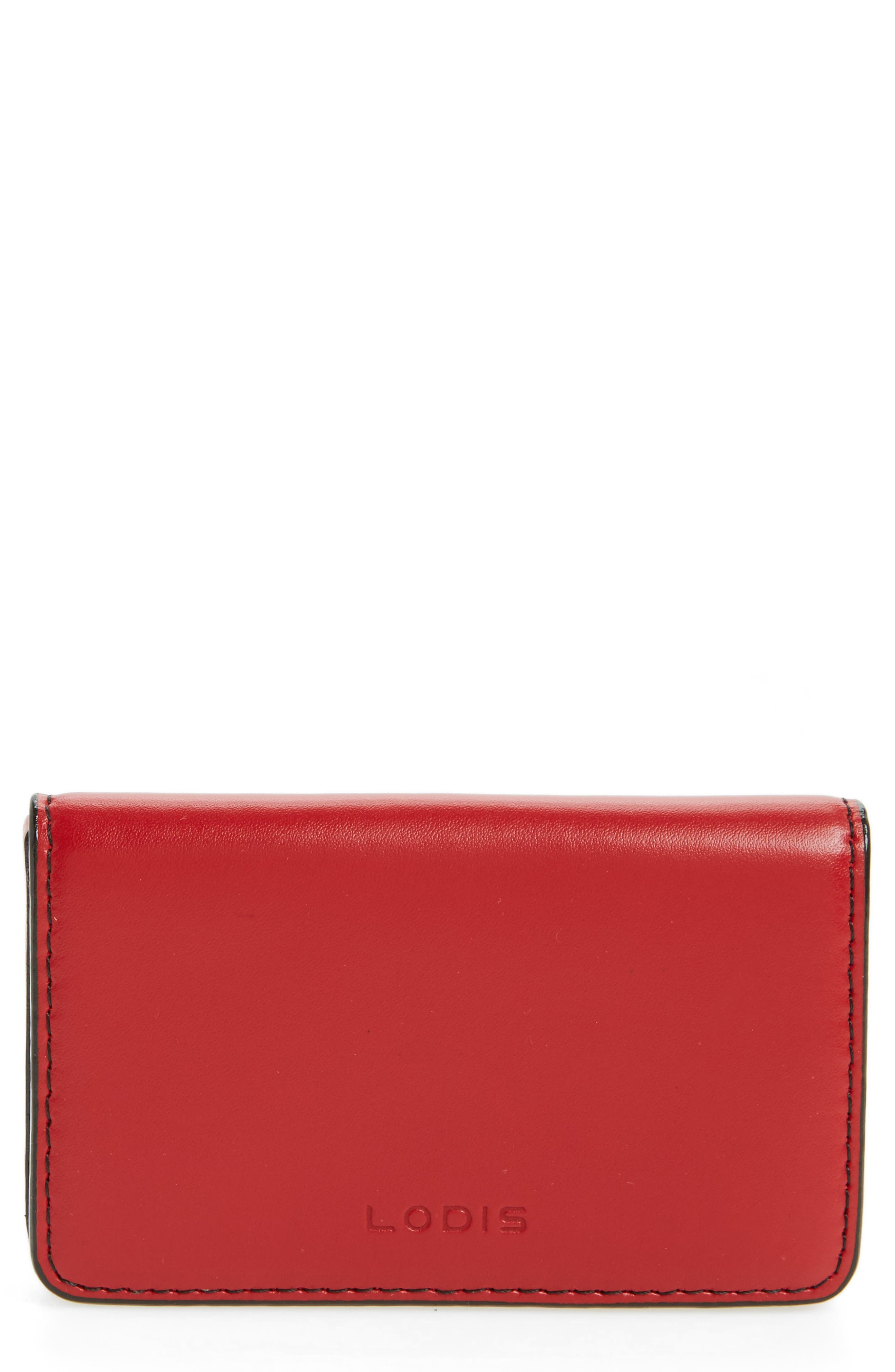 Lodis Audrey Under Lock & Key Leather Mini Card Case