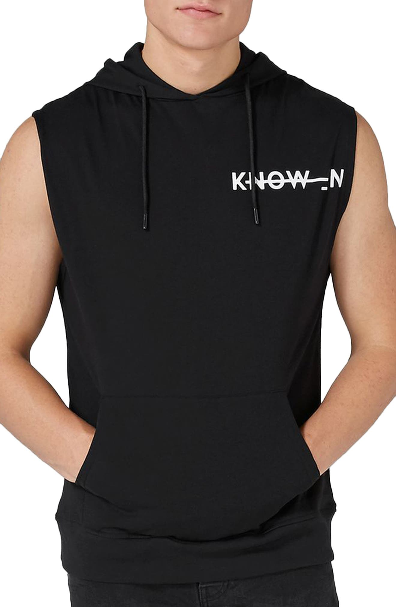 Known Logo Graphic Hooded Tank,                         Main,                         color, Black