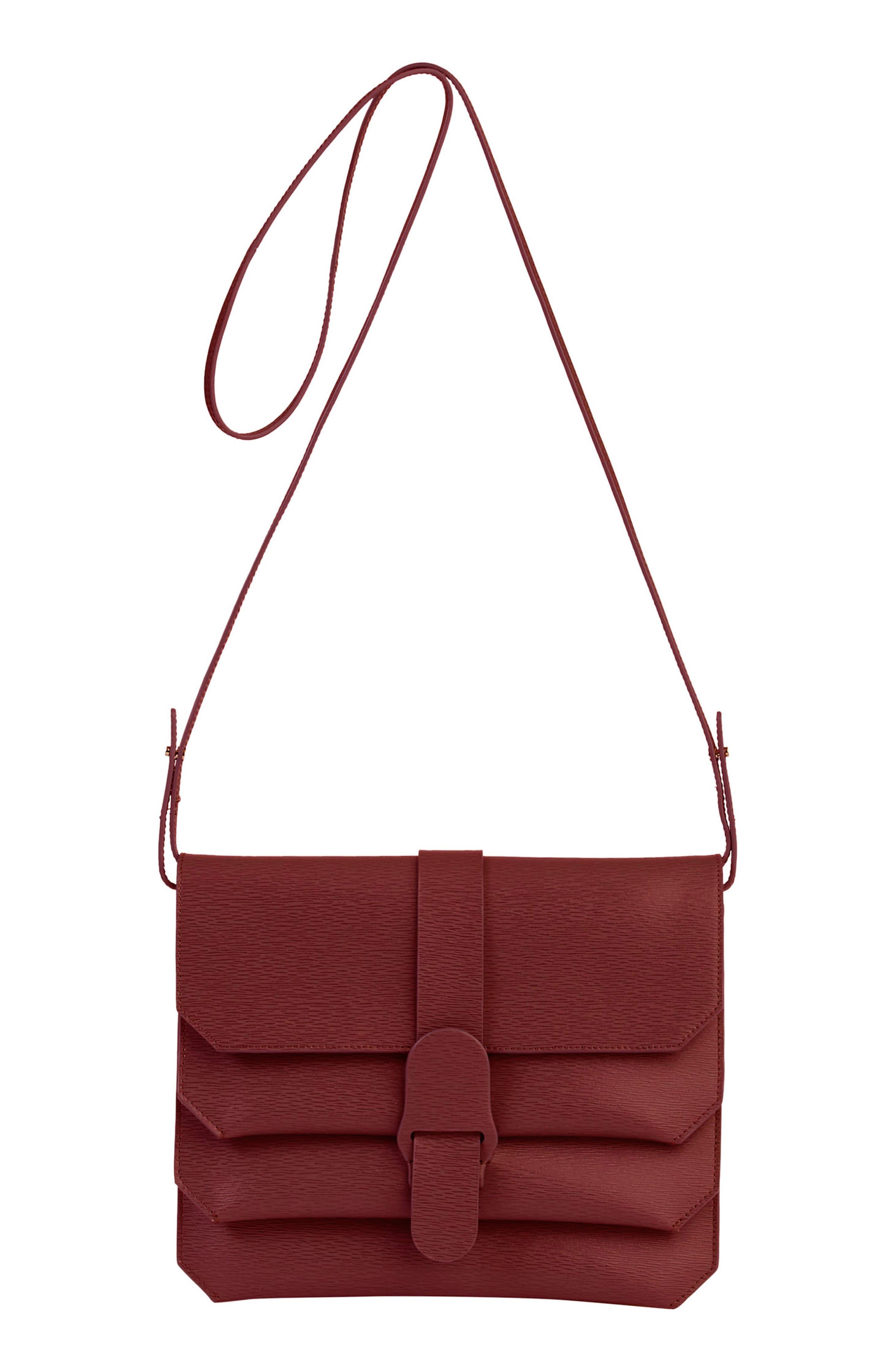 Alternate Image 1 Selected - Senreve Mimosa Textured Leather Crossbody Bag