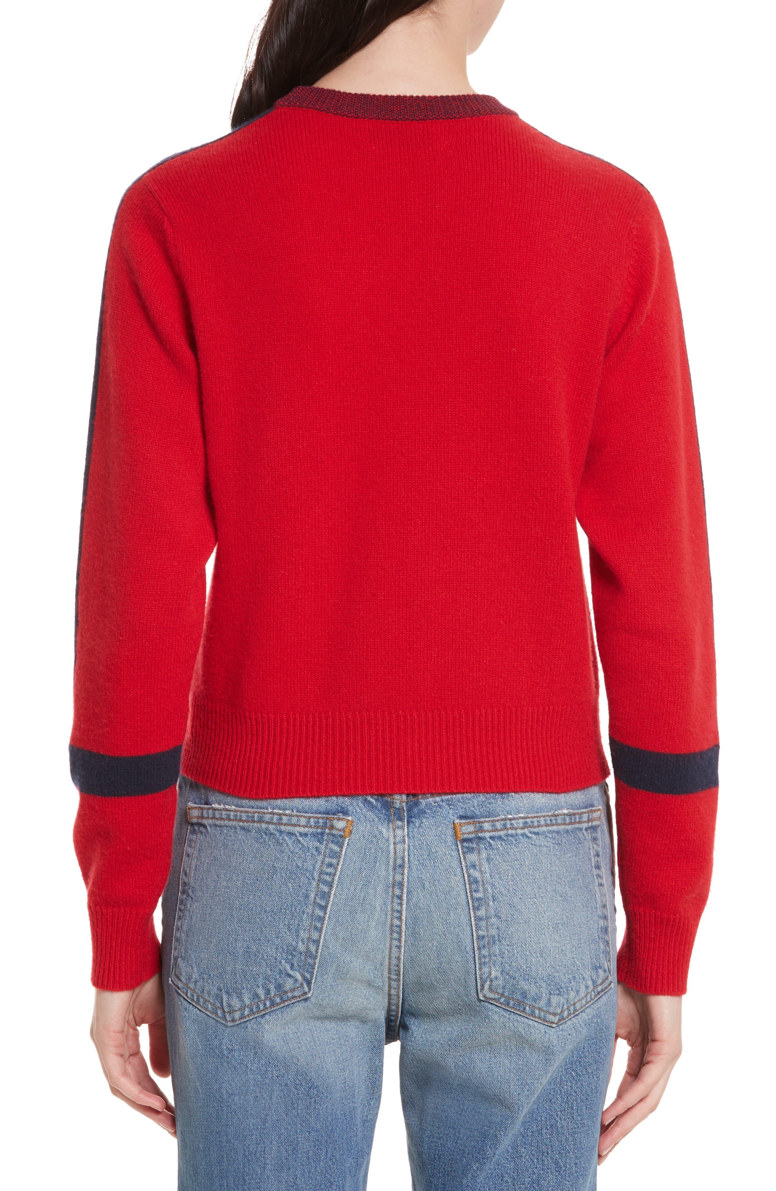 Alternate Image 2  - Allude Bold Stripe Cashmere Sweater