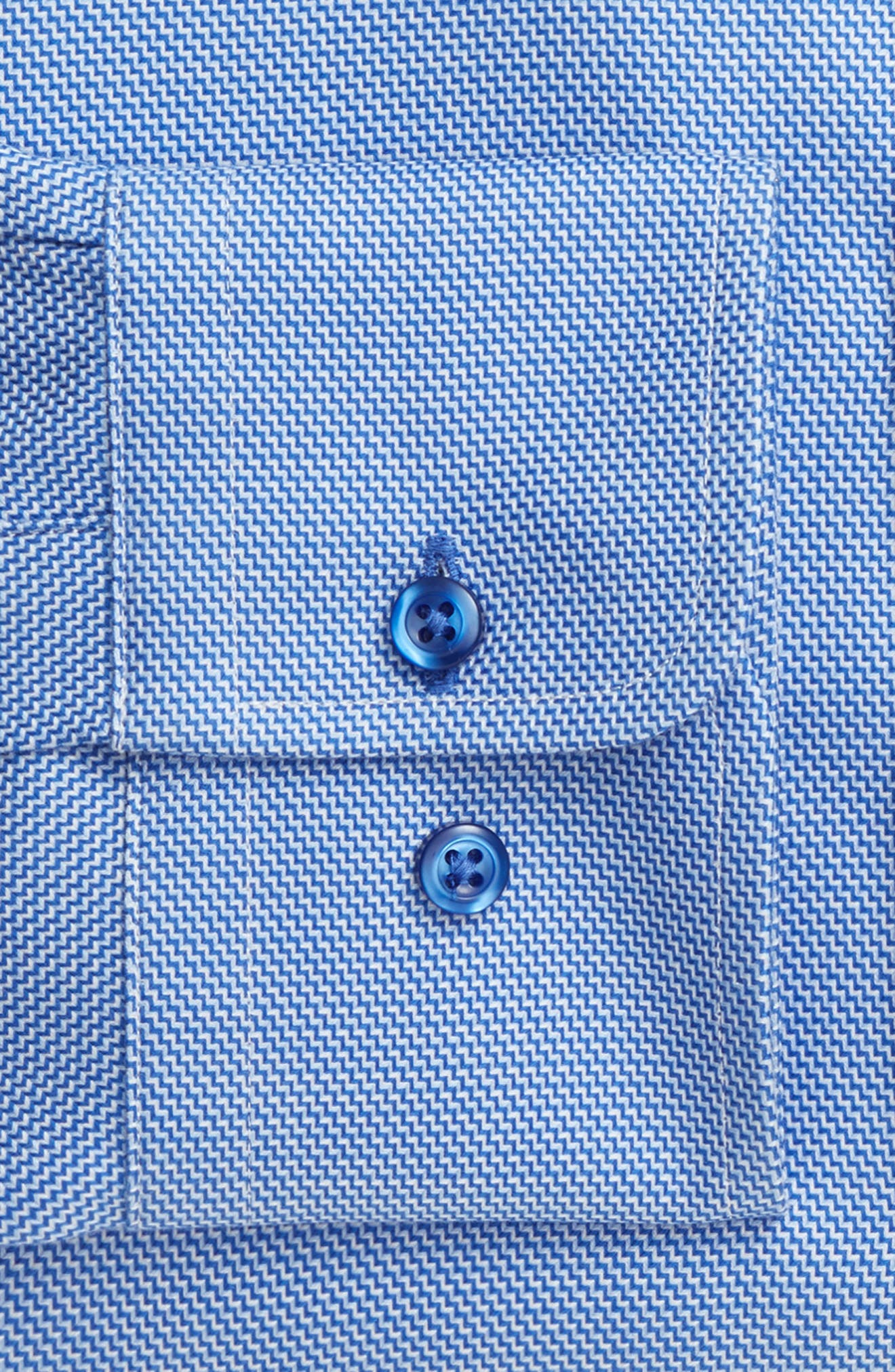Slim Fit Solid Dress Shirt,                             Alternate thumbnail 5, color,                             Blue